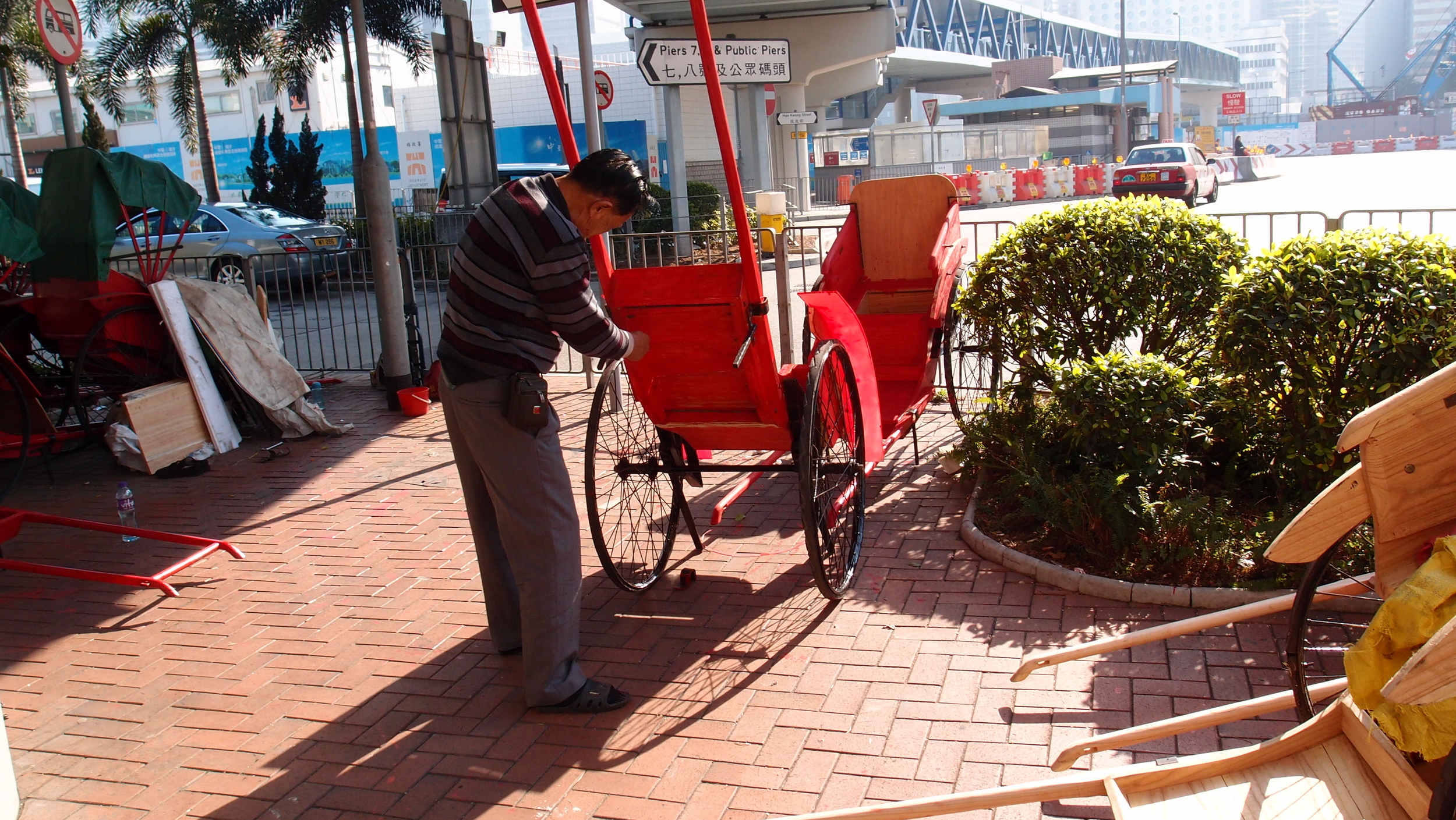 Doubling the number of rickshaws in Hong Kong