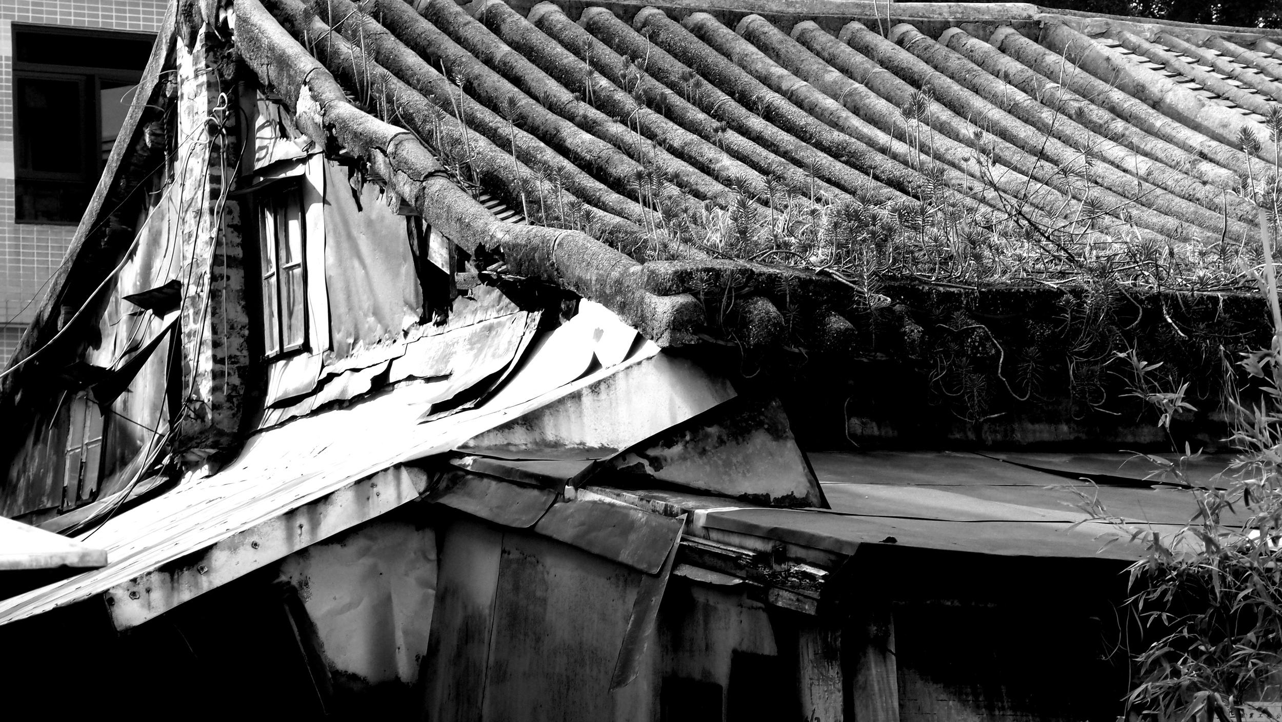 An old building at the Tai O Fishing Village on Lantau Island
