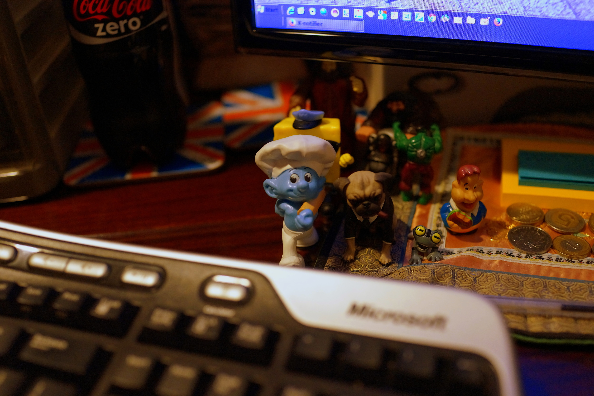 Smurfs, Frank the talking dog and friends - my very first picture taken with the Sony RX 1r