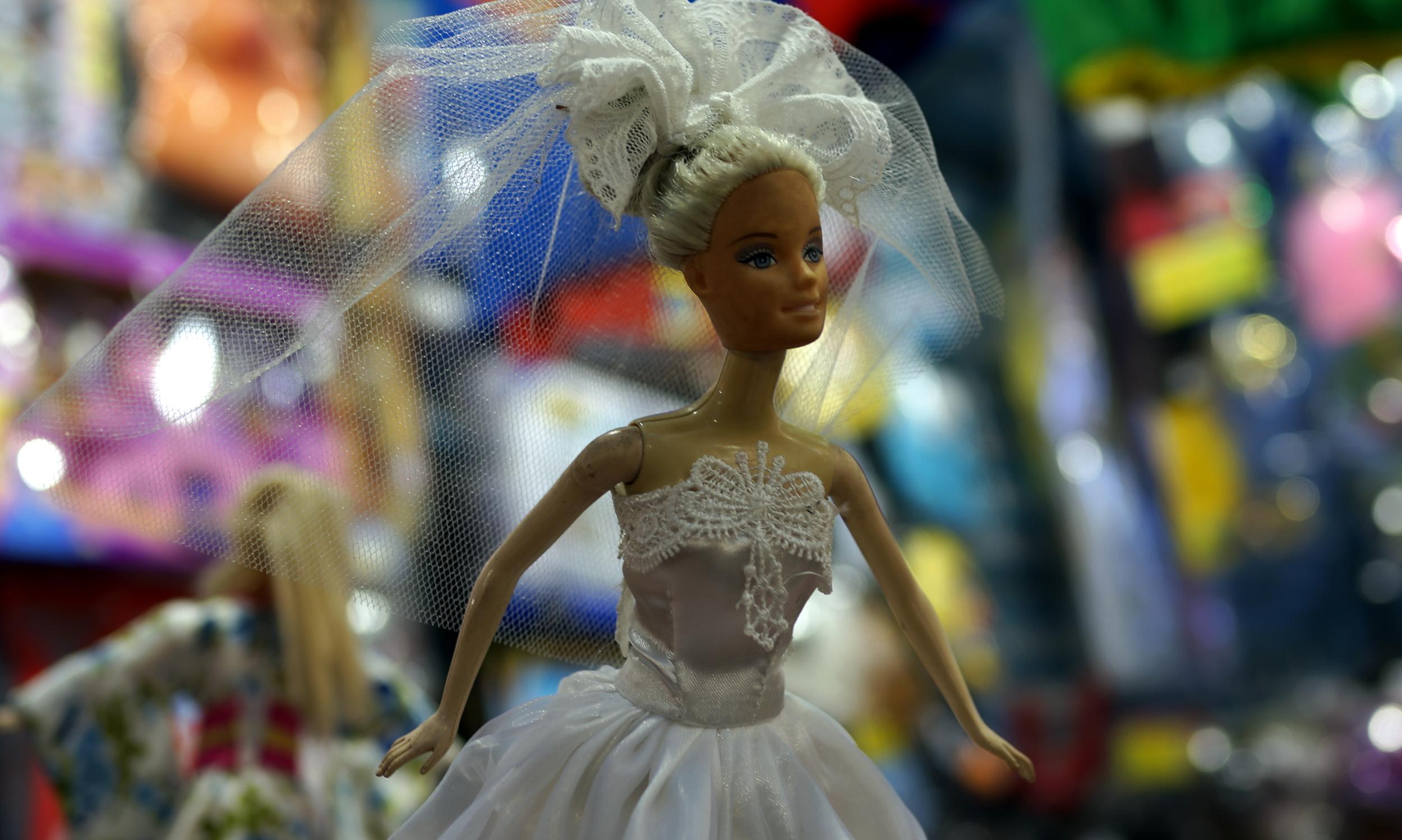 A fake Barbie at the Ladies Market in MongKok.