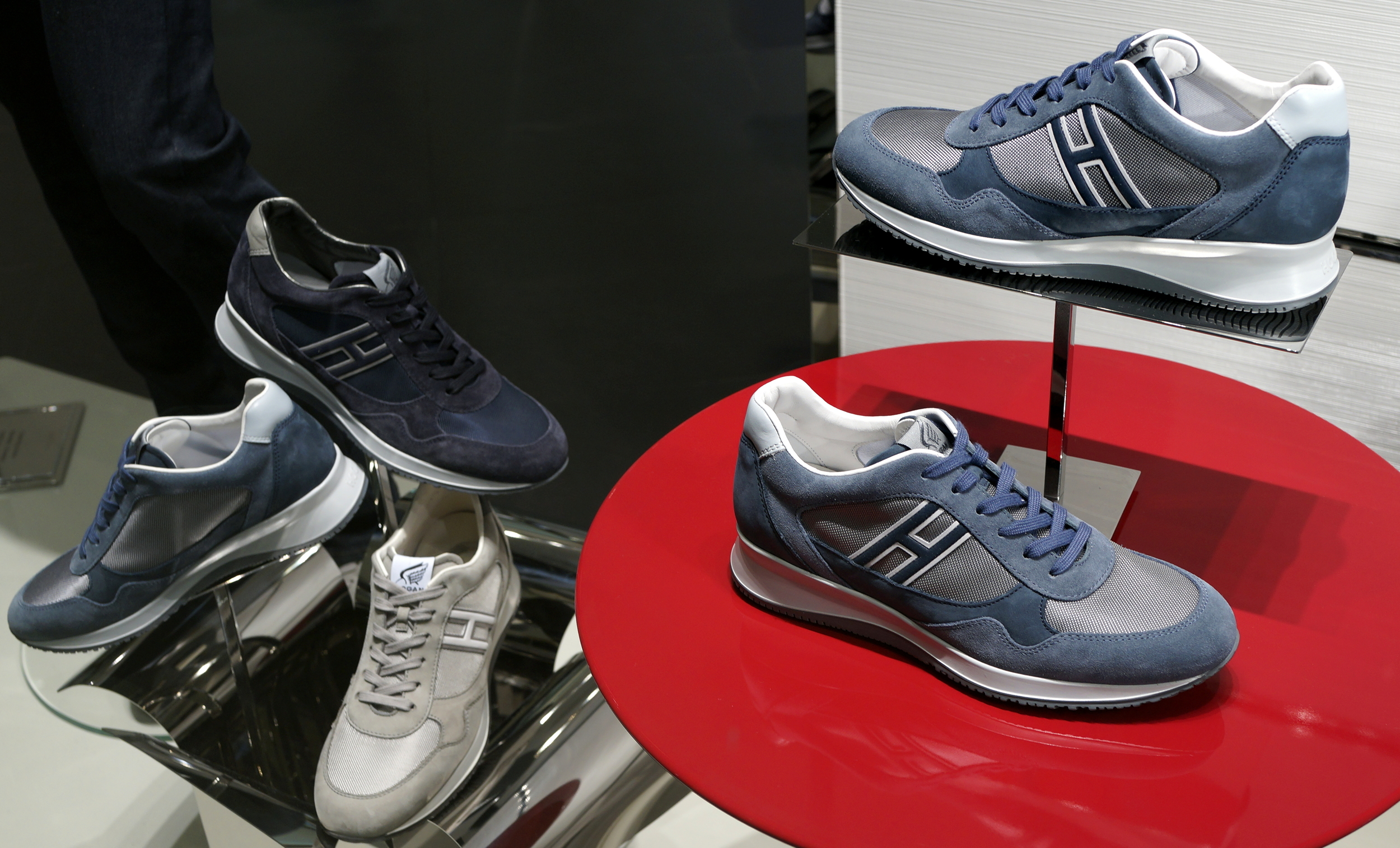 I wear Geox shoes, they are the most comfortable walking shoes ever, however, I may change to Hogan, they look almost the same and they will help me re-discover my youth! they do look cool.