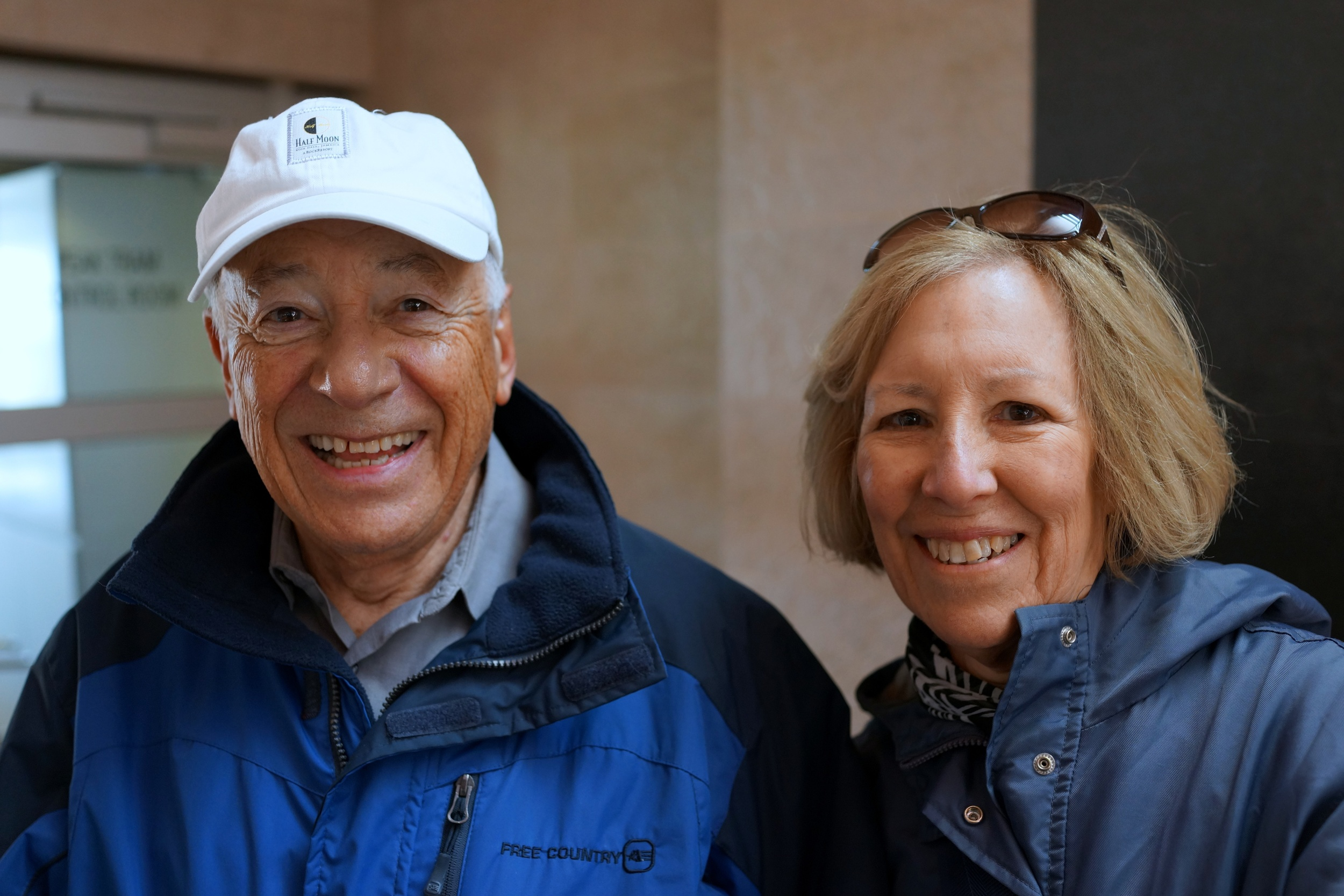 Bob and Myrna from Chicago showing how pleased they were with my tour!!