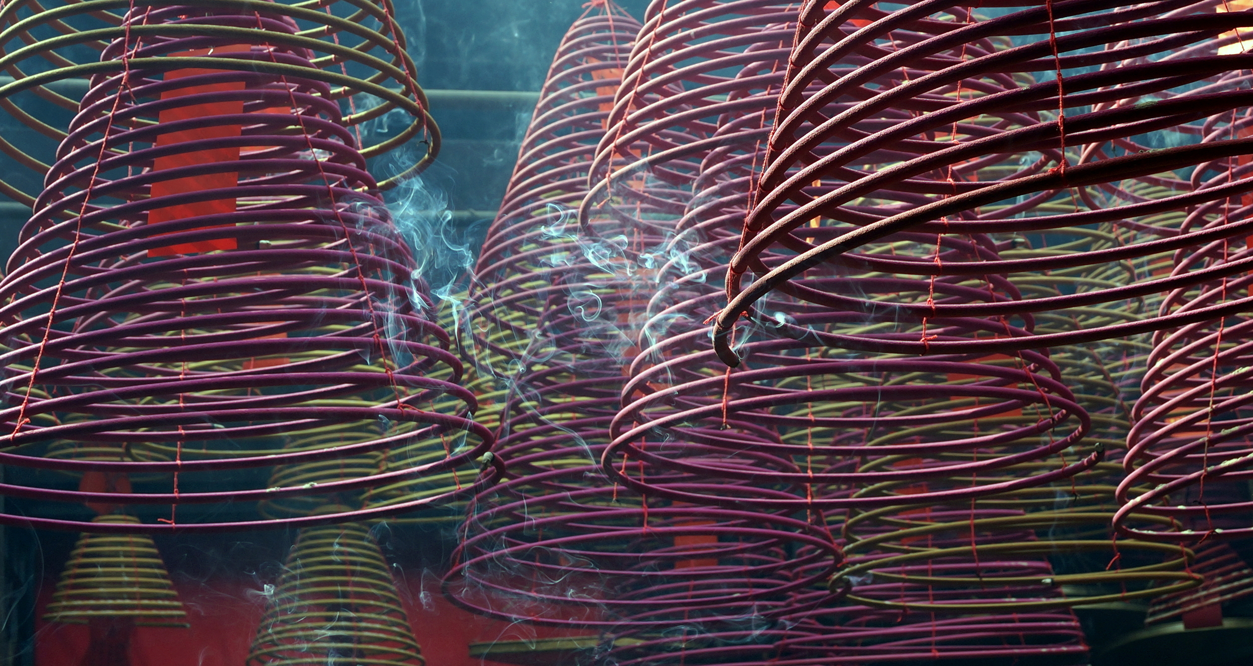 These suckers burn for over a week and you can see them at the Tin Hau Temple on Temple Street in Yaumatei.