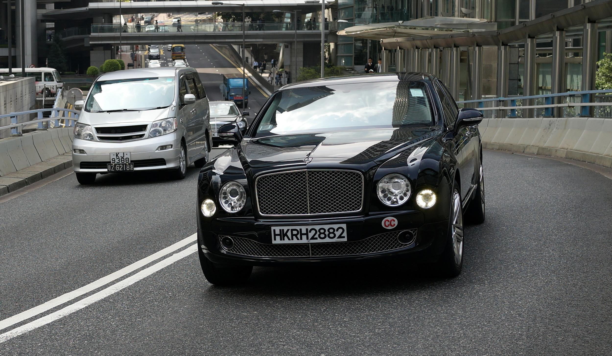 A diplomats car, a very nice Bentley