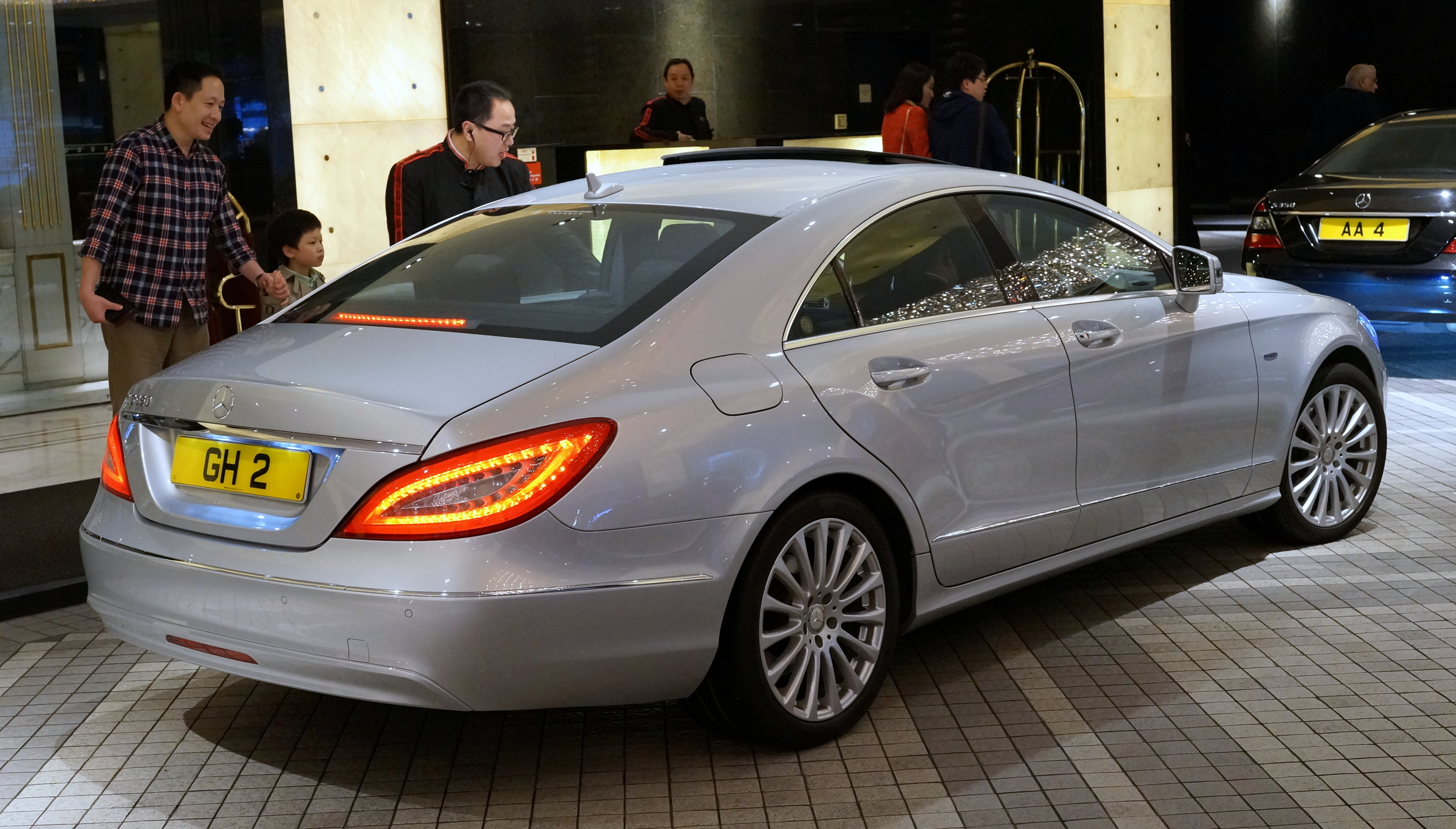 A gorgeous Mercedes Benz at the Kowloon Shangri - la Hotel - love the design of the rear lights and I would be grinning if I owned a car like this.