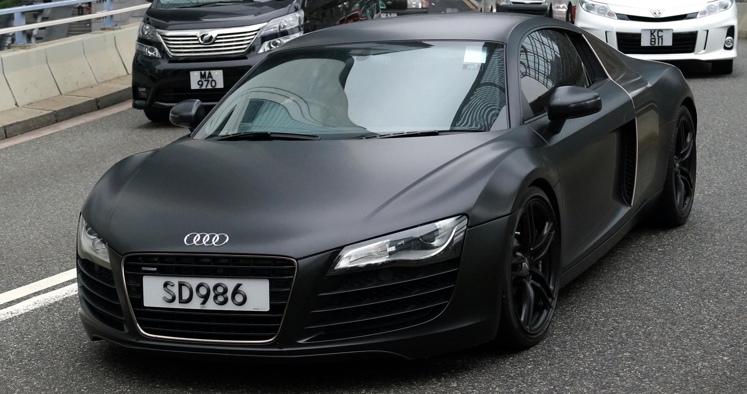 A matte Audi R8