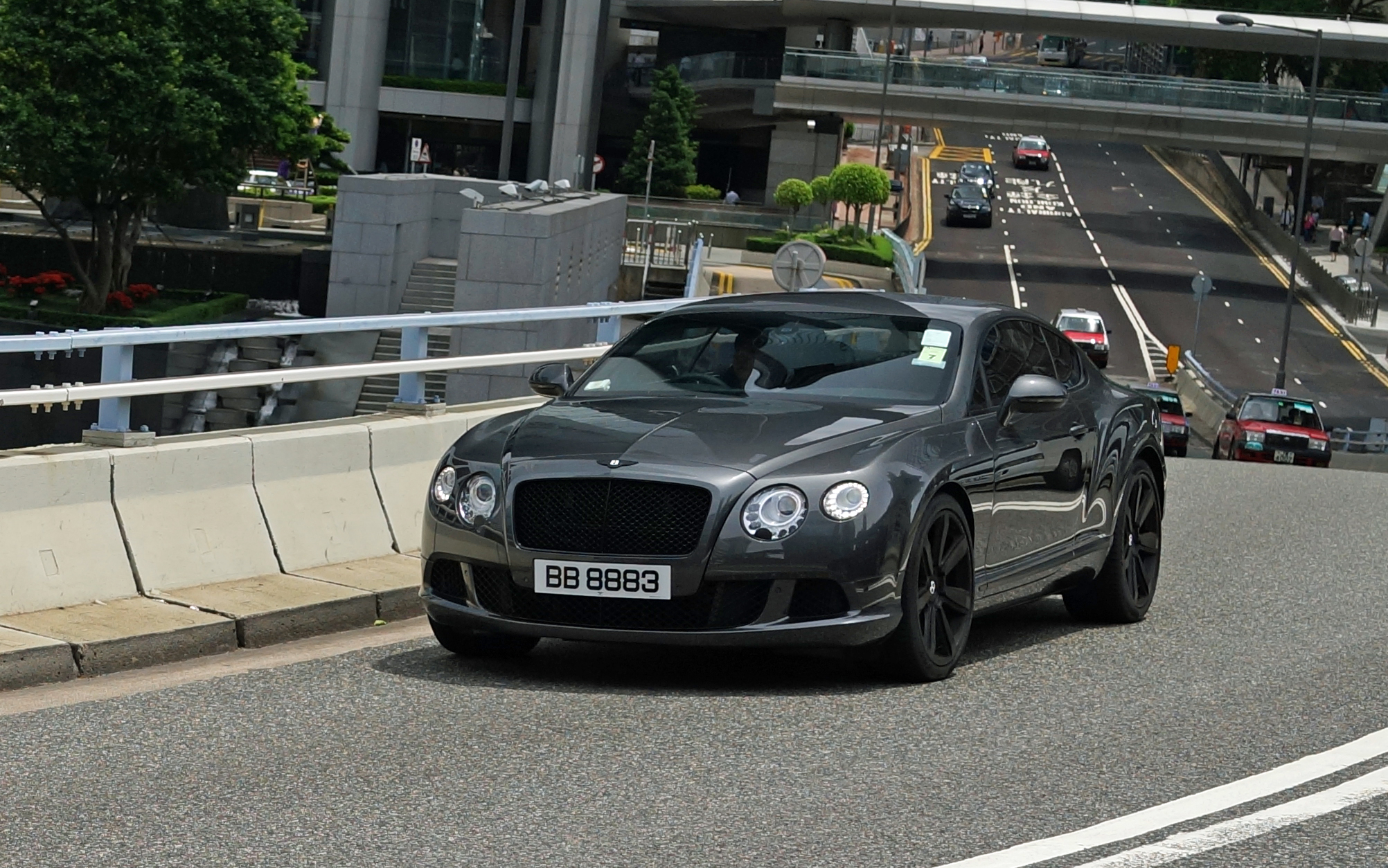 A gorgeous Bentley with a lucky number plate