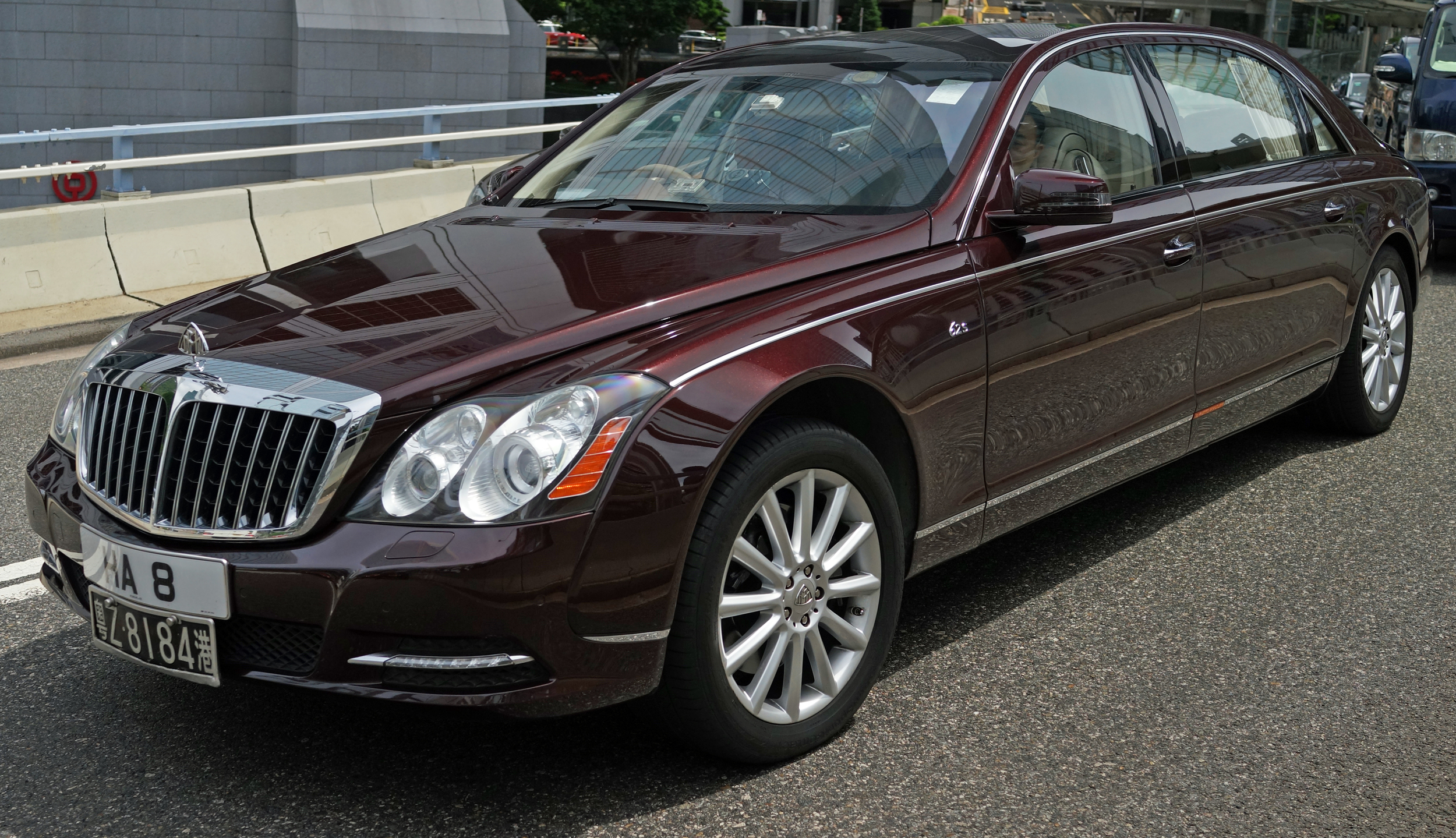 The Maybach is a monster and a favourite of the billionaires in Hong Kong - it is no longer in production