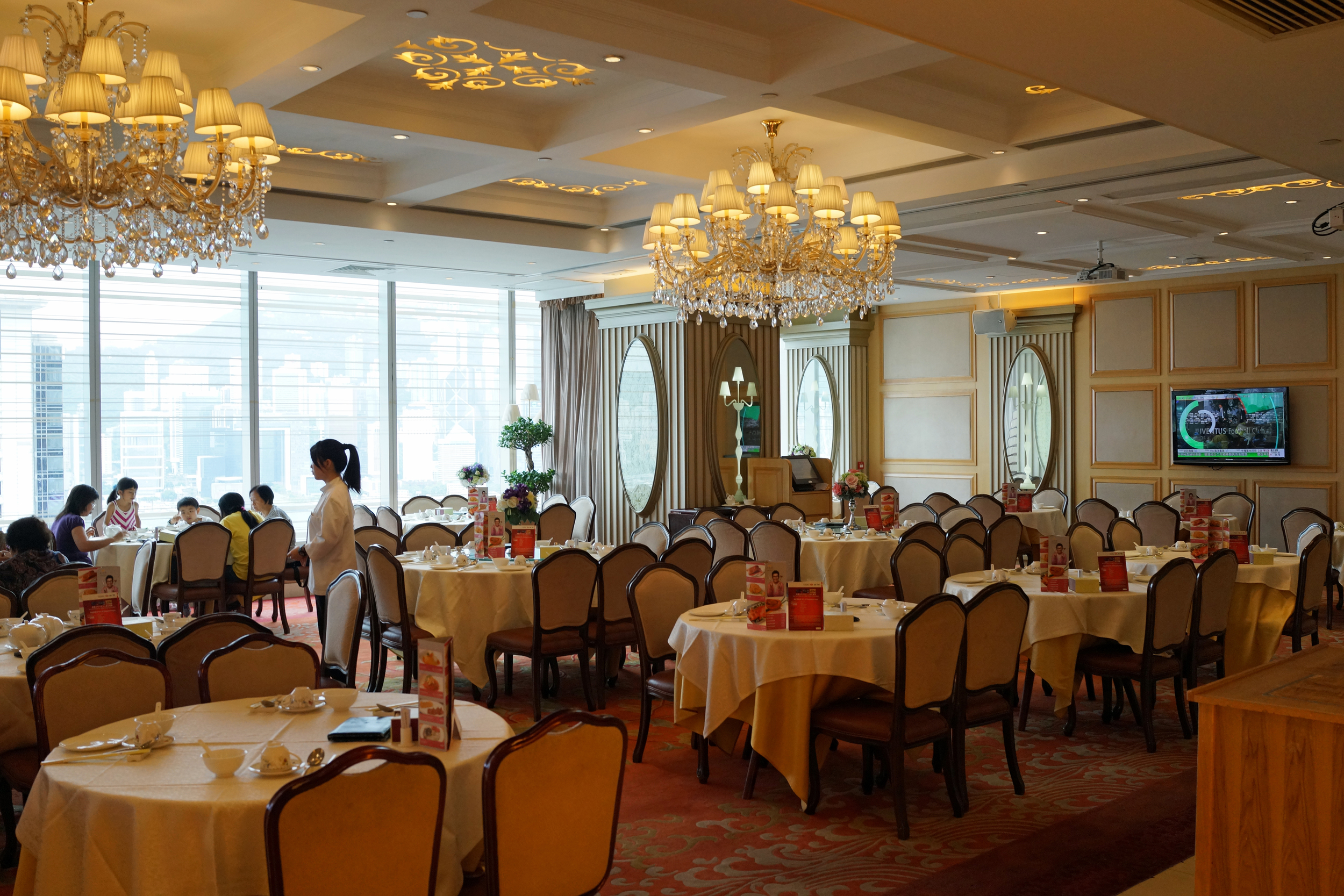The Star of Canton Dim Sum Restaurant is a great Dim Sum place and handily located on the 24th Floor of I Square a shopping mall that sits on top of TST MTR Station in Kowloon... it is rather splendid and has some nice views as well.