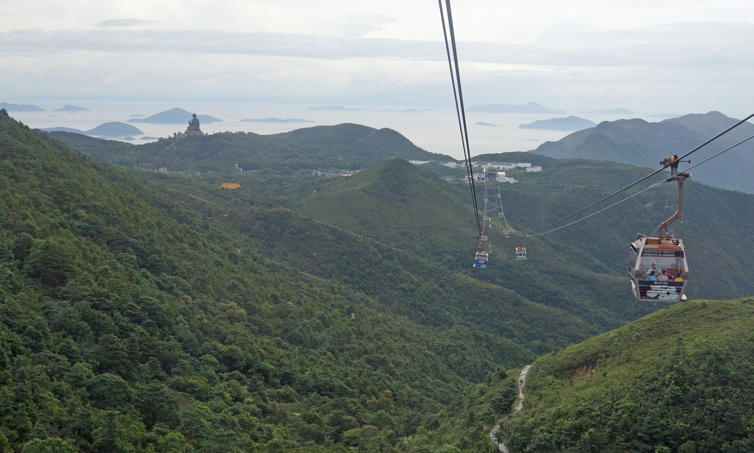 OK, so you need a clear day but it is still quite a sight when the Giant Buddha on Lantau Island, Hong Kong comes into view from the NP 360 Cable Car.