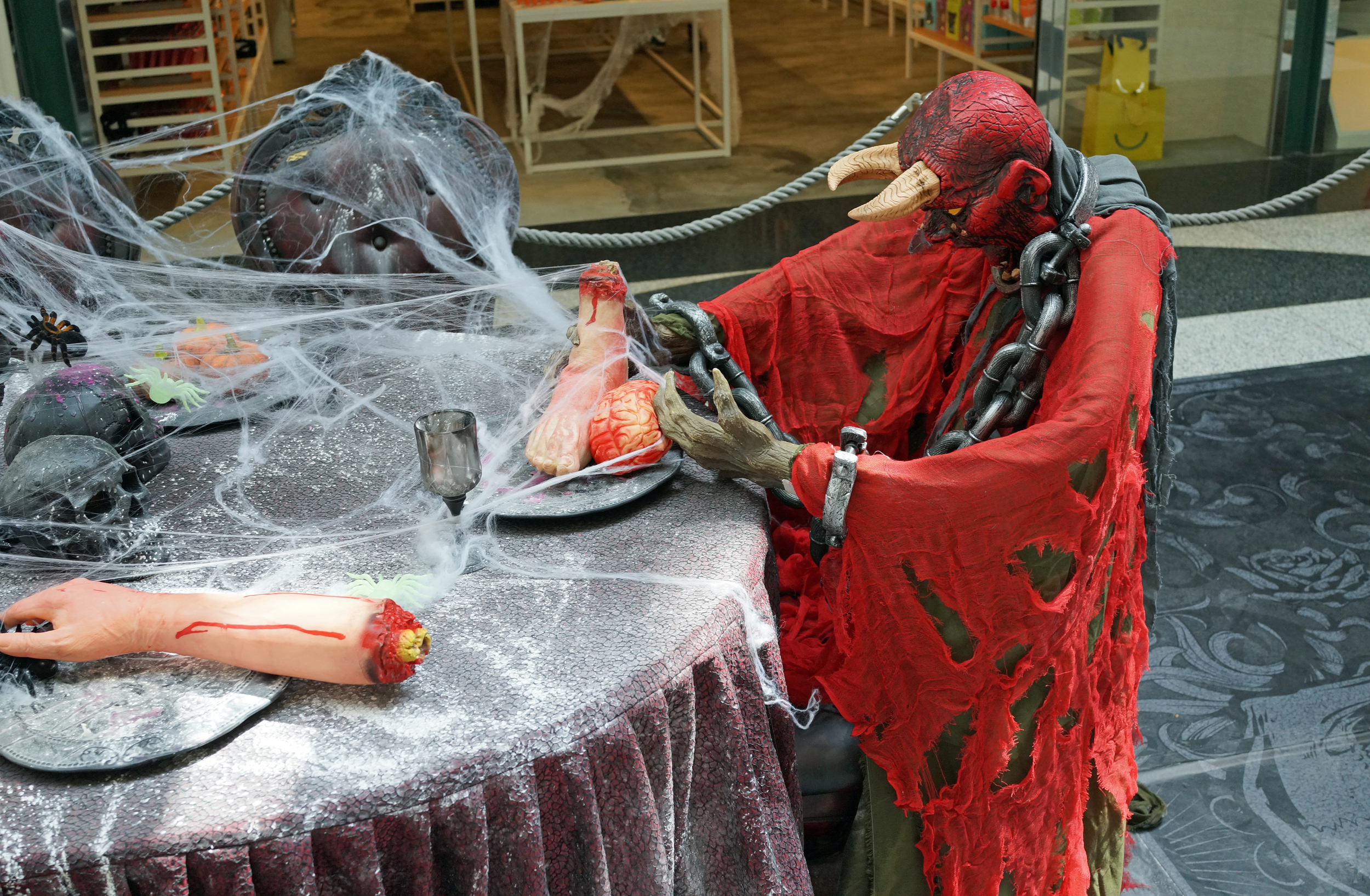 A pretty decent take on Halloween at the Peak Galleria at the Peak, Hong Kong.