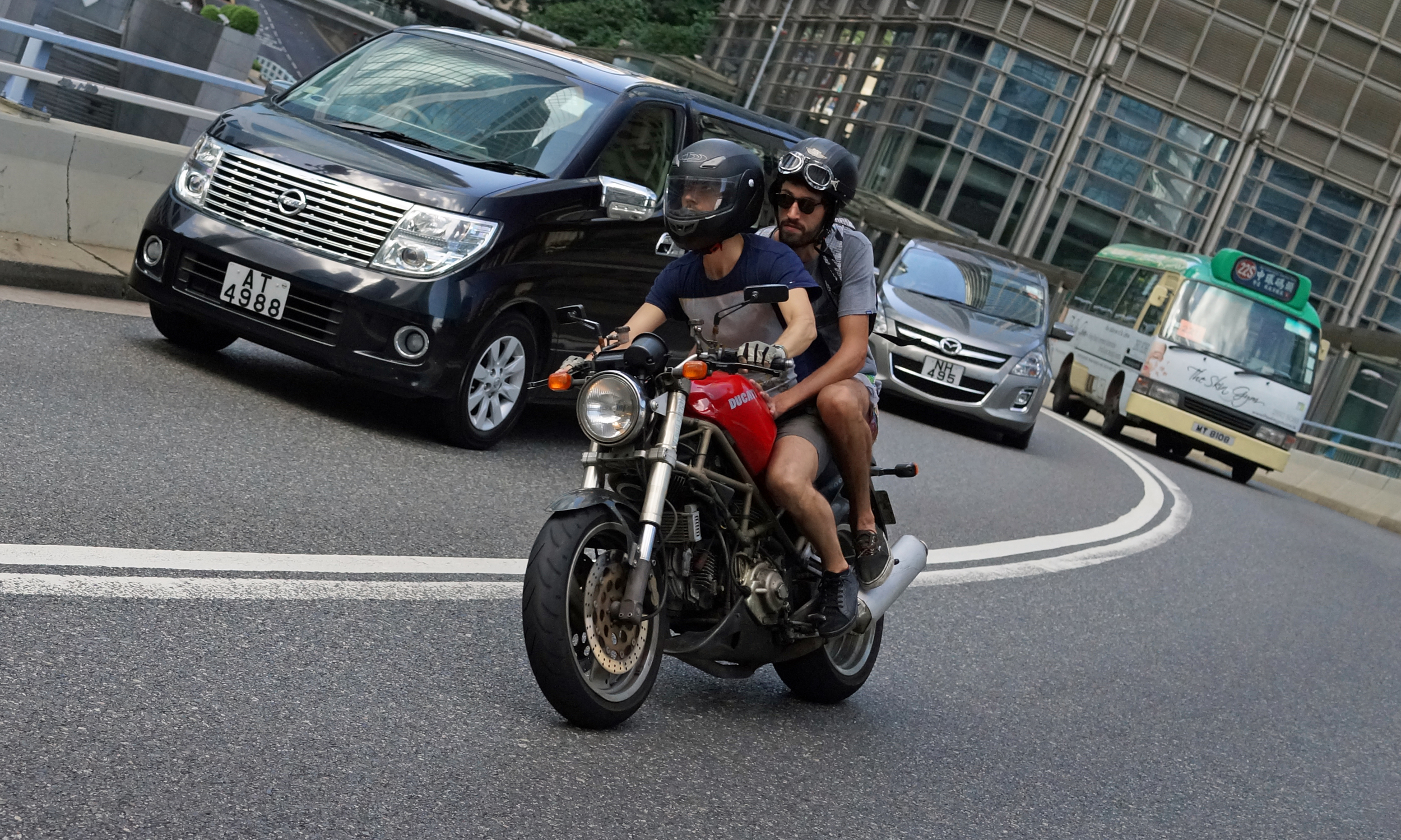 A more explosive means of transport - the Ducati motorbike, probably the best selling superbike in Hong Kong.