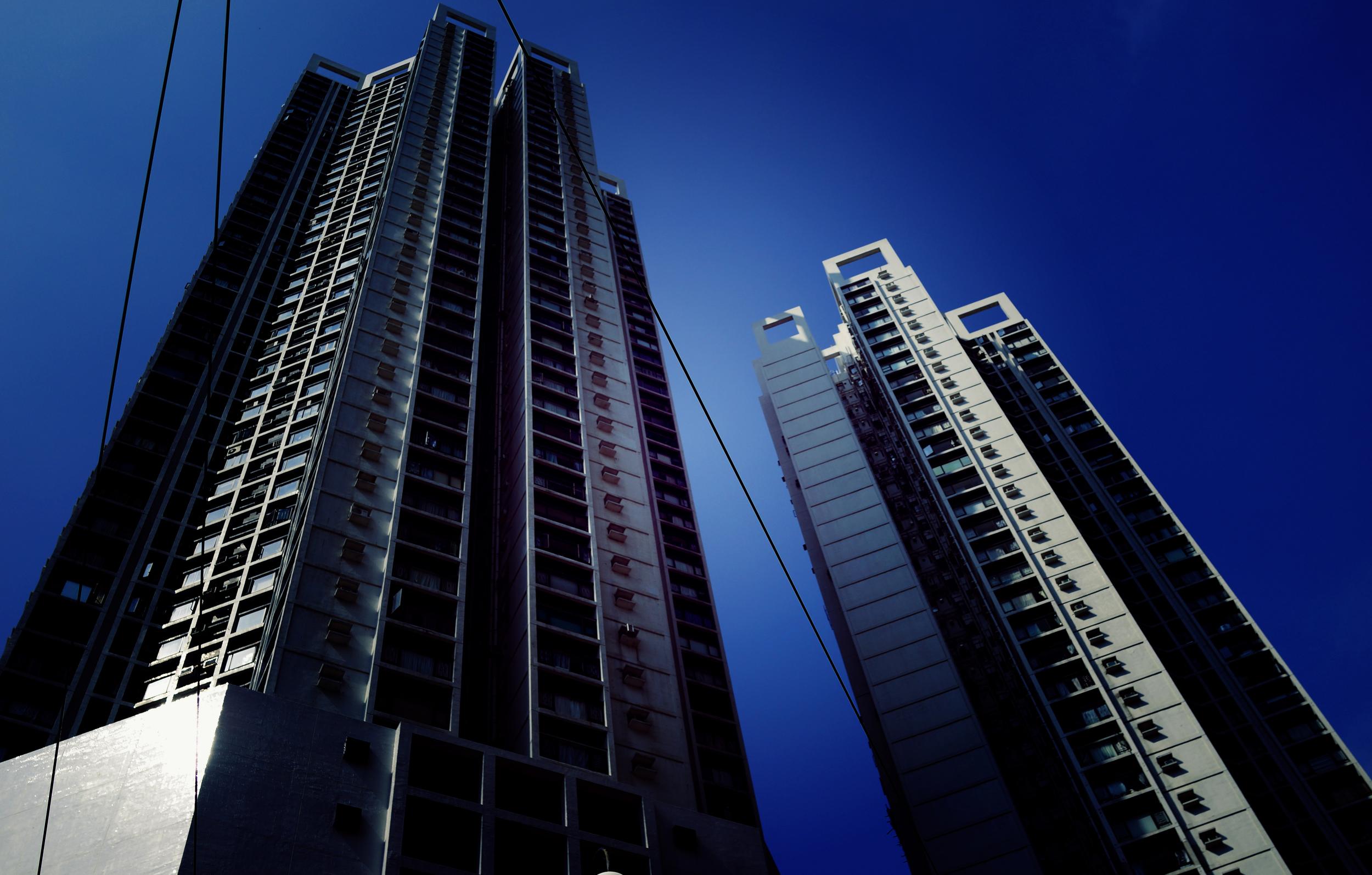 Apartment blocks in Tin Hau near Causeway Bay