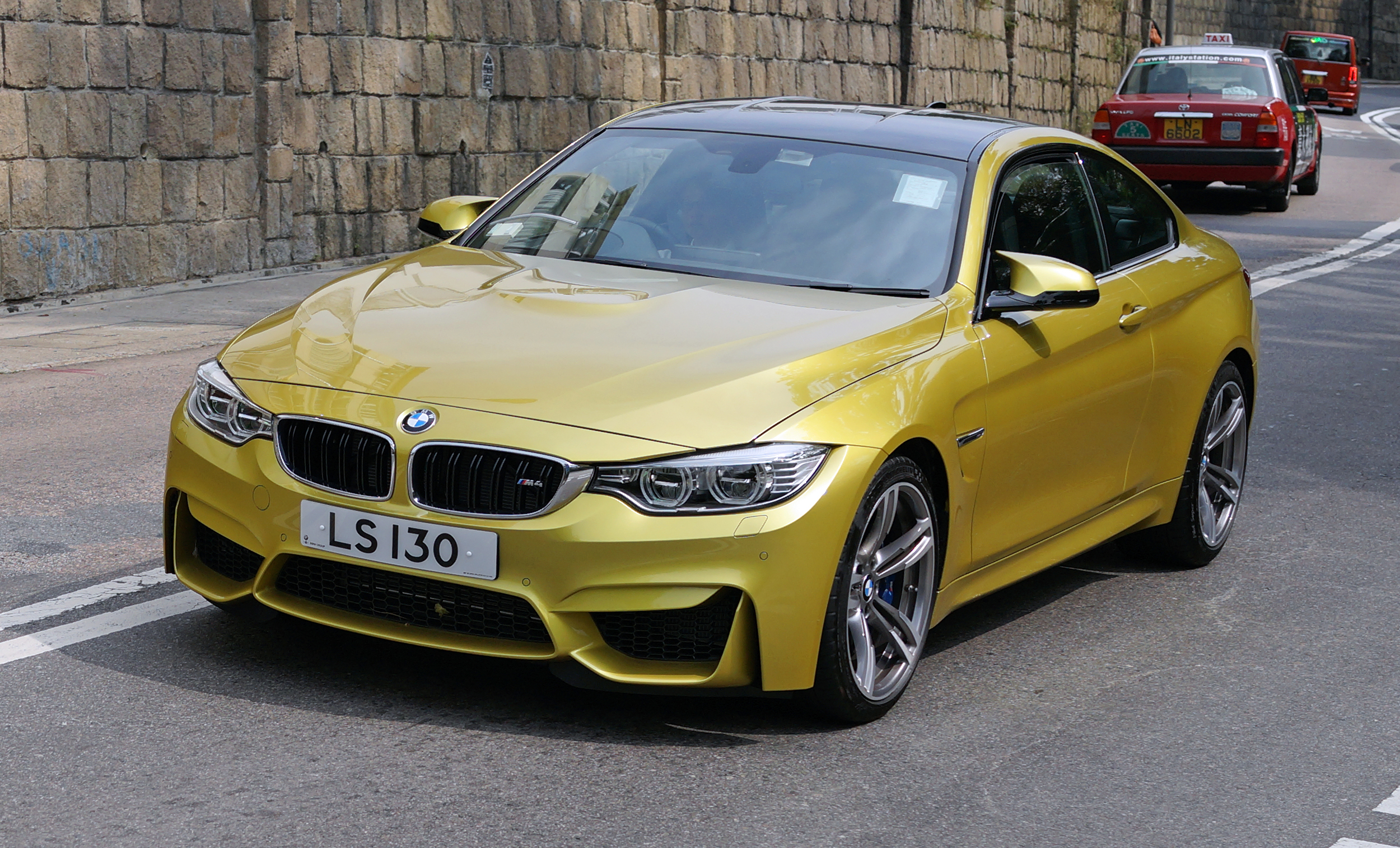 This BMW M series are fast becoming my favourite cars and I just love the colour... very, very cool.