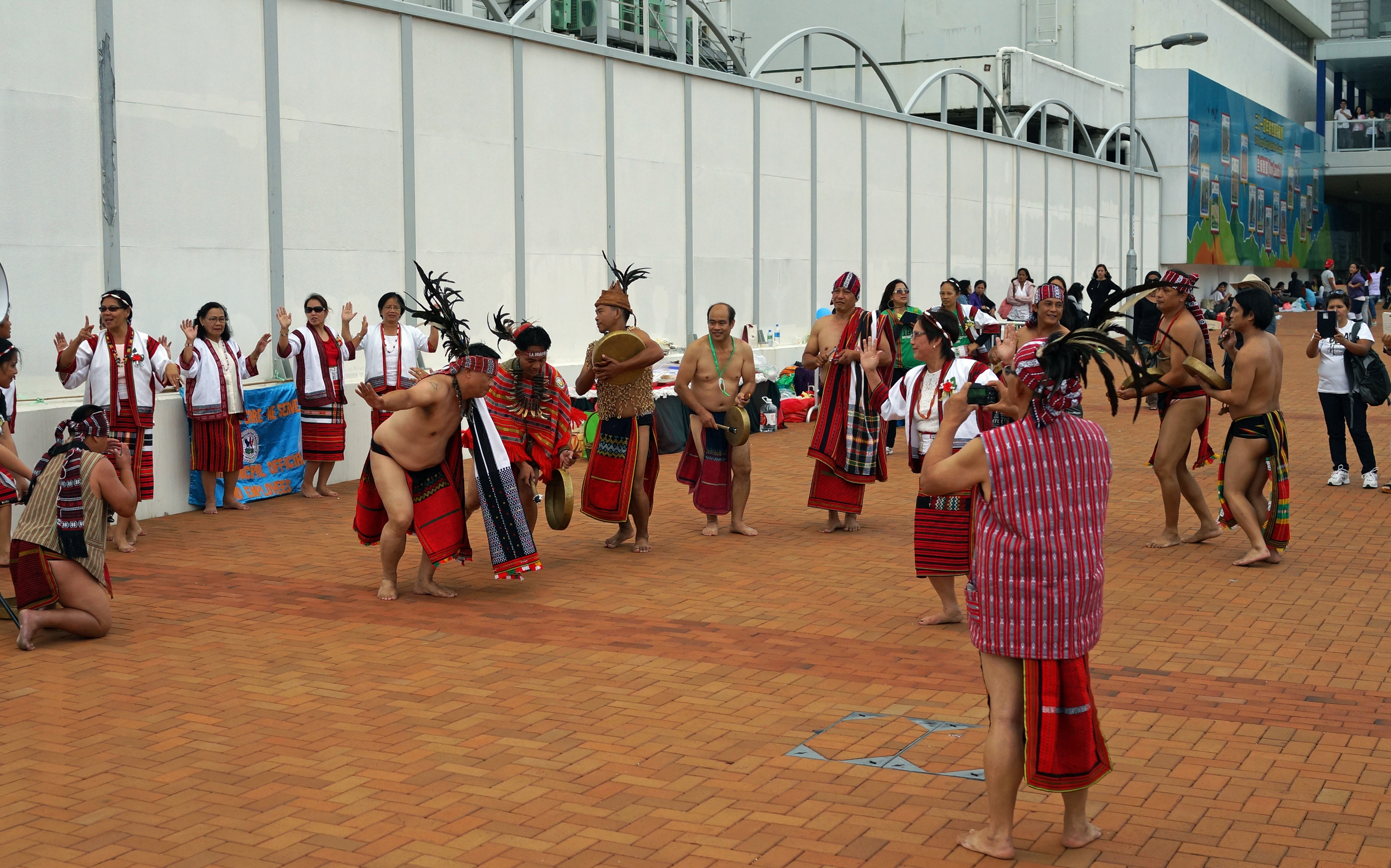 """A group of ethnic Filipino's doing a """"tribal"""" dance in Central, I doubt the world is ready for my ar.e and gut!"""