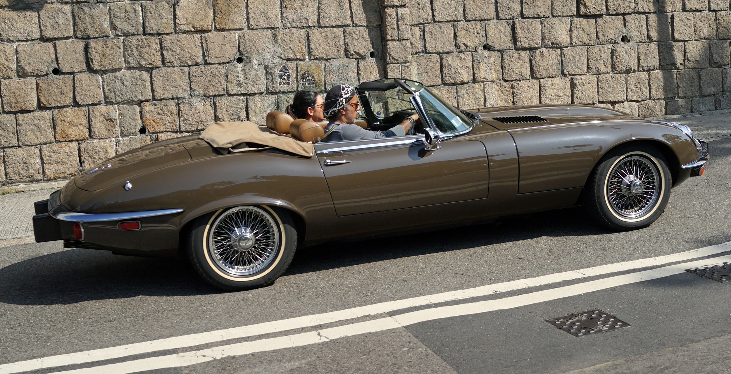 Oh my - what a gorgeous Jaguar E - Type.