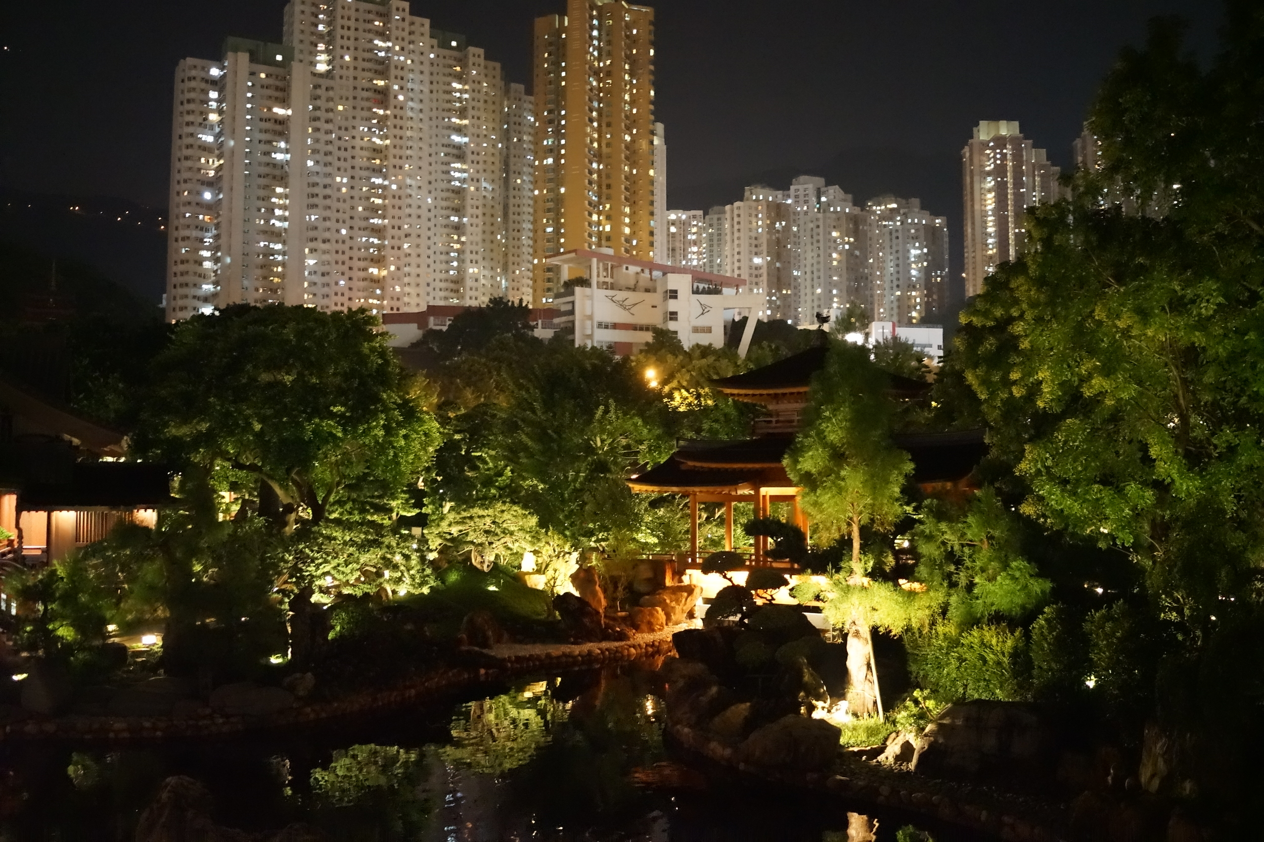 A visit to the Nan Lian Garden in Diamond Hill after dark is quite something.... it does however close at 9pm.