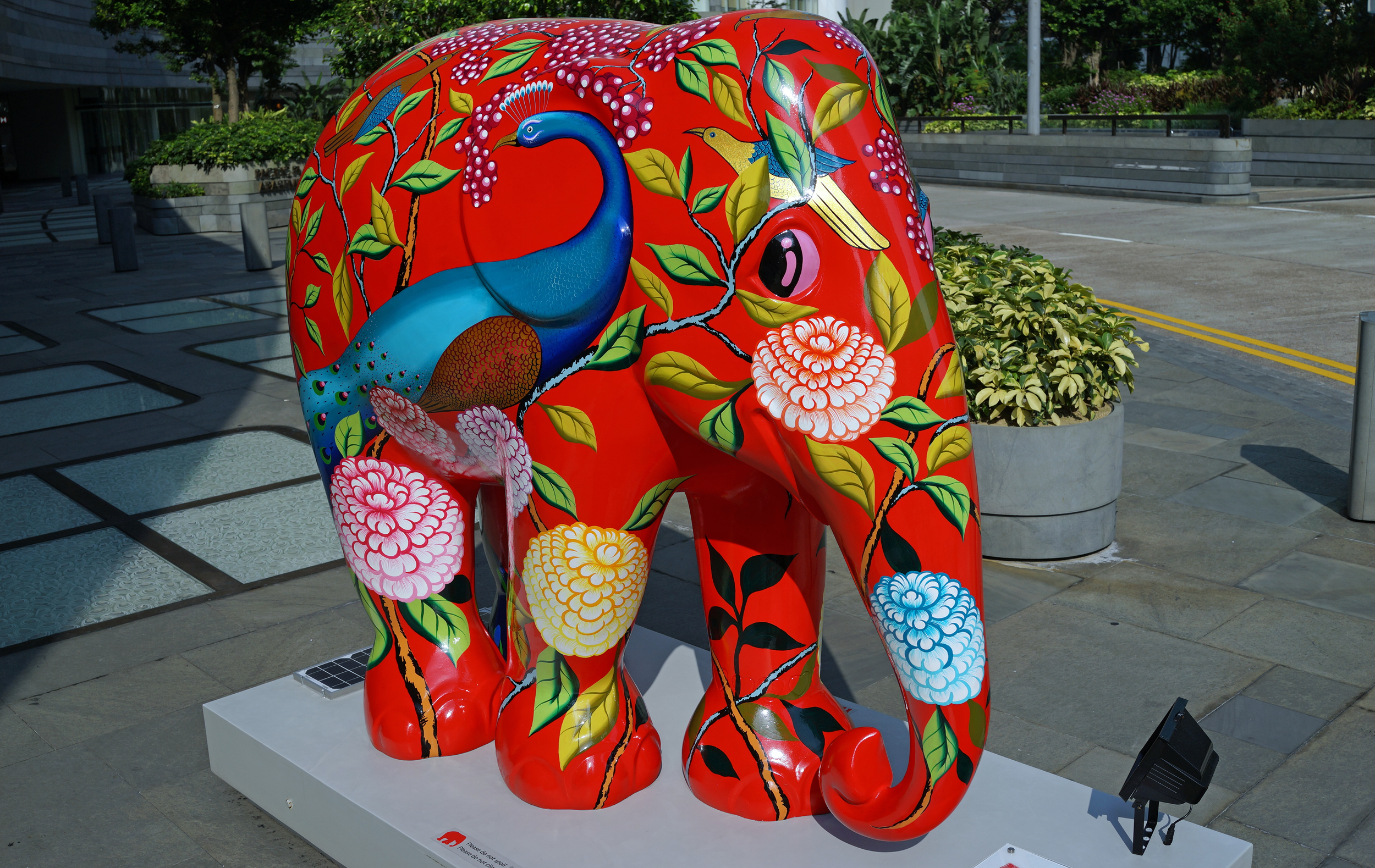 A few months ago colourful elephants were all the rage... now they are not.