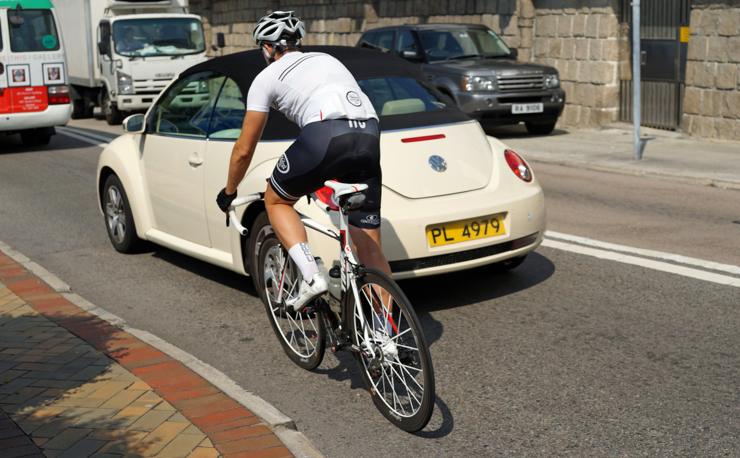 A lazy, hazy day of summer normally means all the spandex nutters come out to cause mayhem on our roads... the numbers grow dramatically as the weather gets cooler...it's a pity most of the riders are blokes.  rs