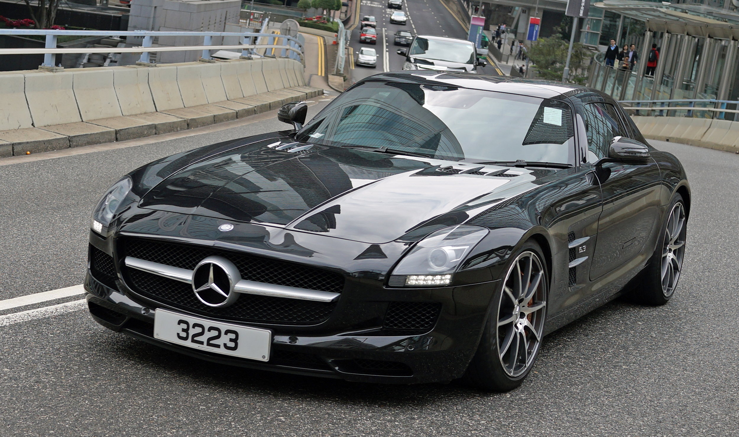 My favourite Mercedes Benz car, the gull wing SLS, an amazing car!!