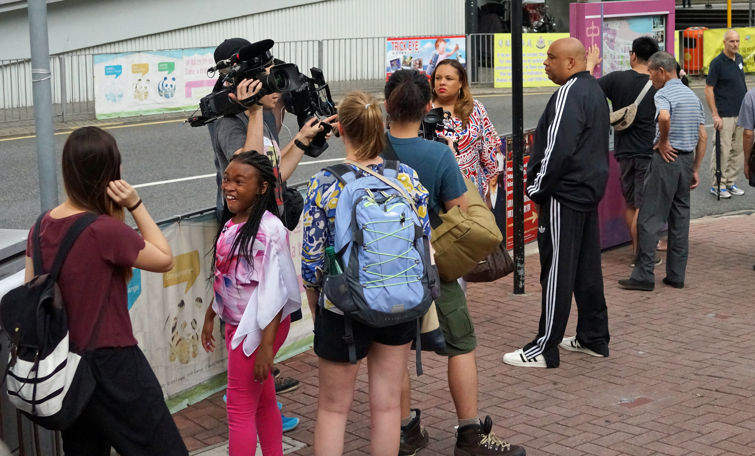 I was lurking around the Peak Tram on Garden Road a few weeks ago when the people I was with pointed out that the chap in the black track suit was the famous rapper Joseph Simmons from RUN DMC fame... I was a bit worried about his daughter who pulled off one of the best gurns in the history of gurning! -