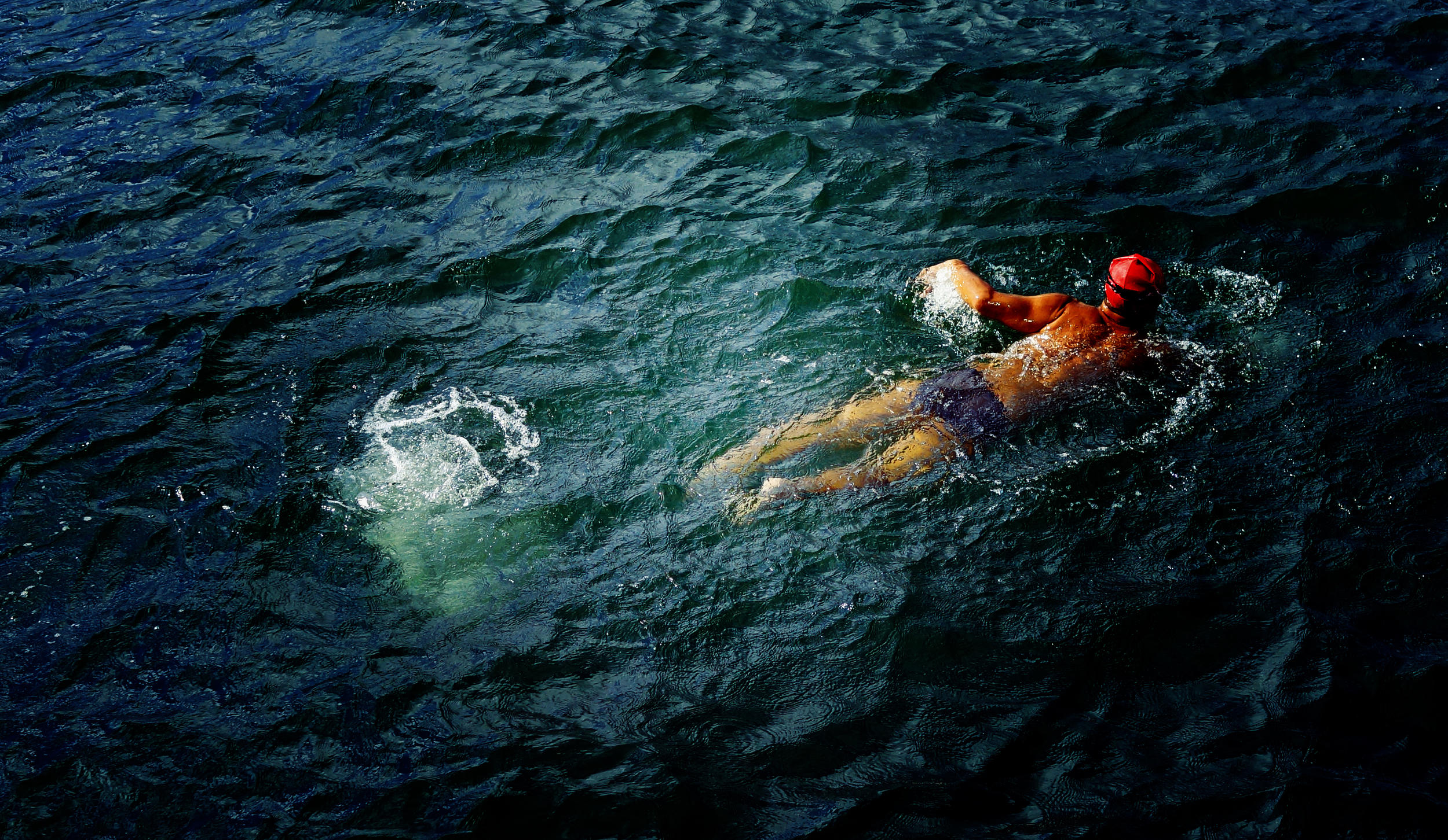 You wouldn't find me swimming in Hong Kong harbour -