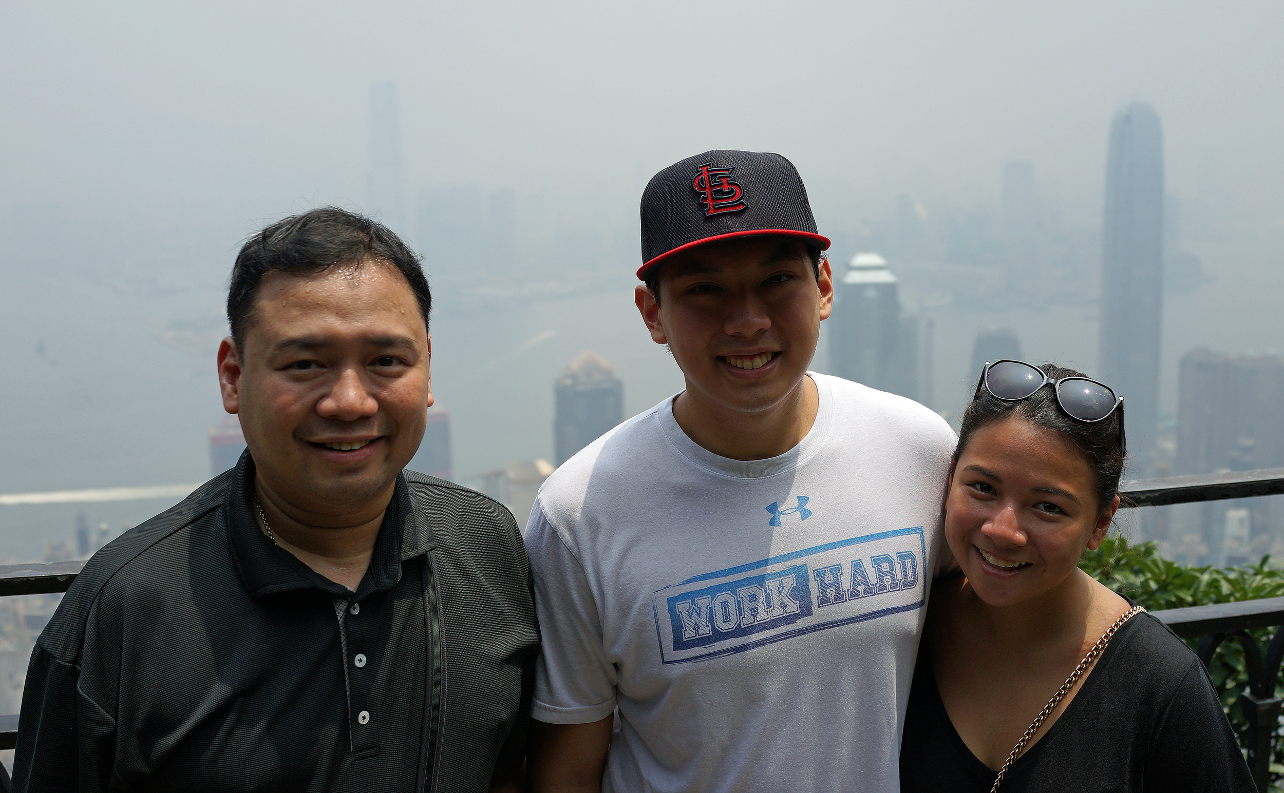 Paco, Jaime and Mica enjoying the view from my spot at the Peak.. Paco makes the best ice cream in the Philippines which, with a bit of luck will soon be available in Hong Kong. The brand is called Carmen's Best -