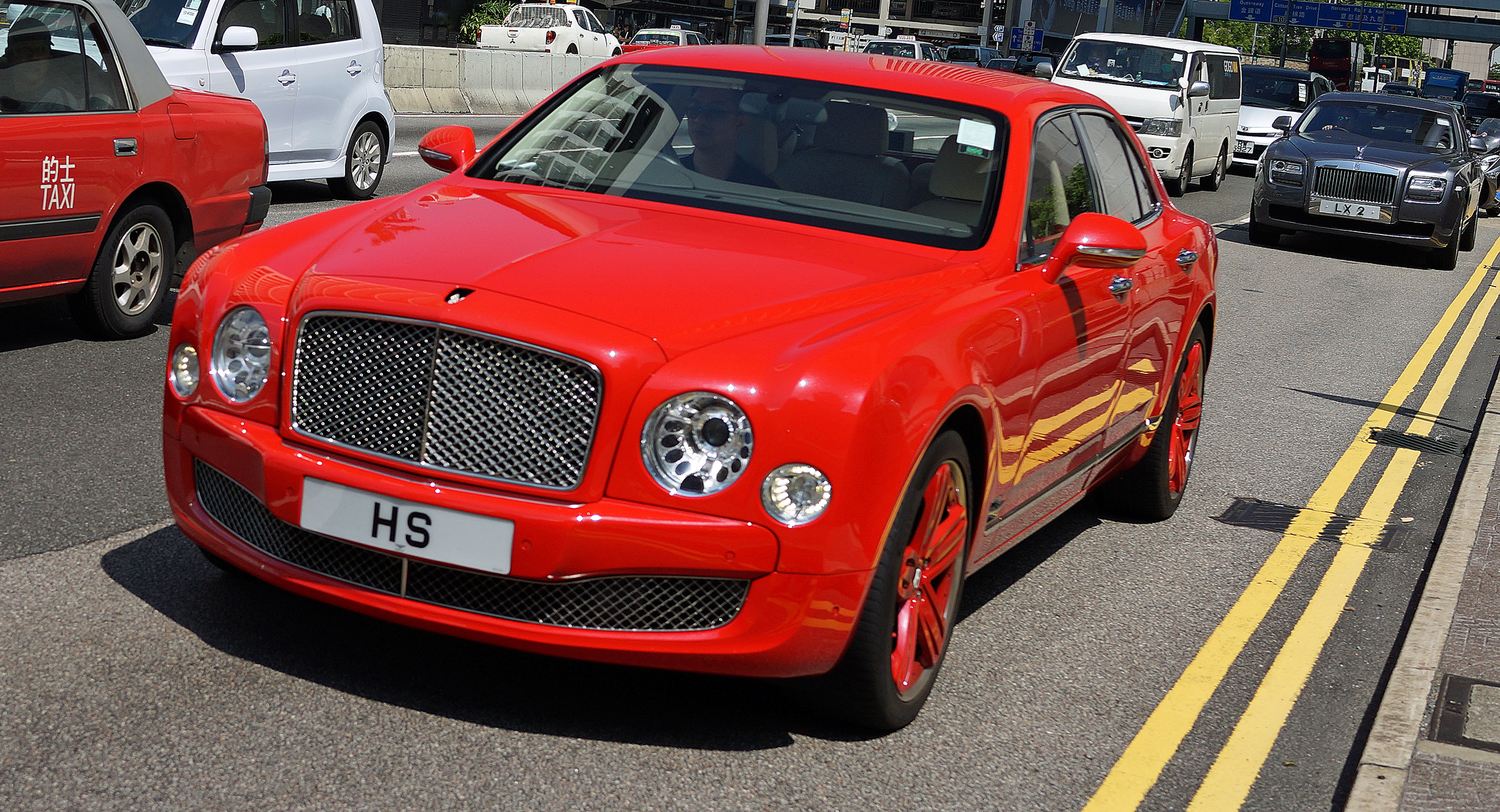 "One of the more ""in your face"" Bentley's in Hong Kong, love the colour"