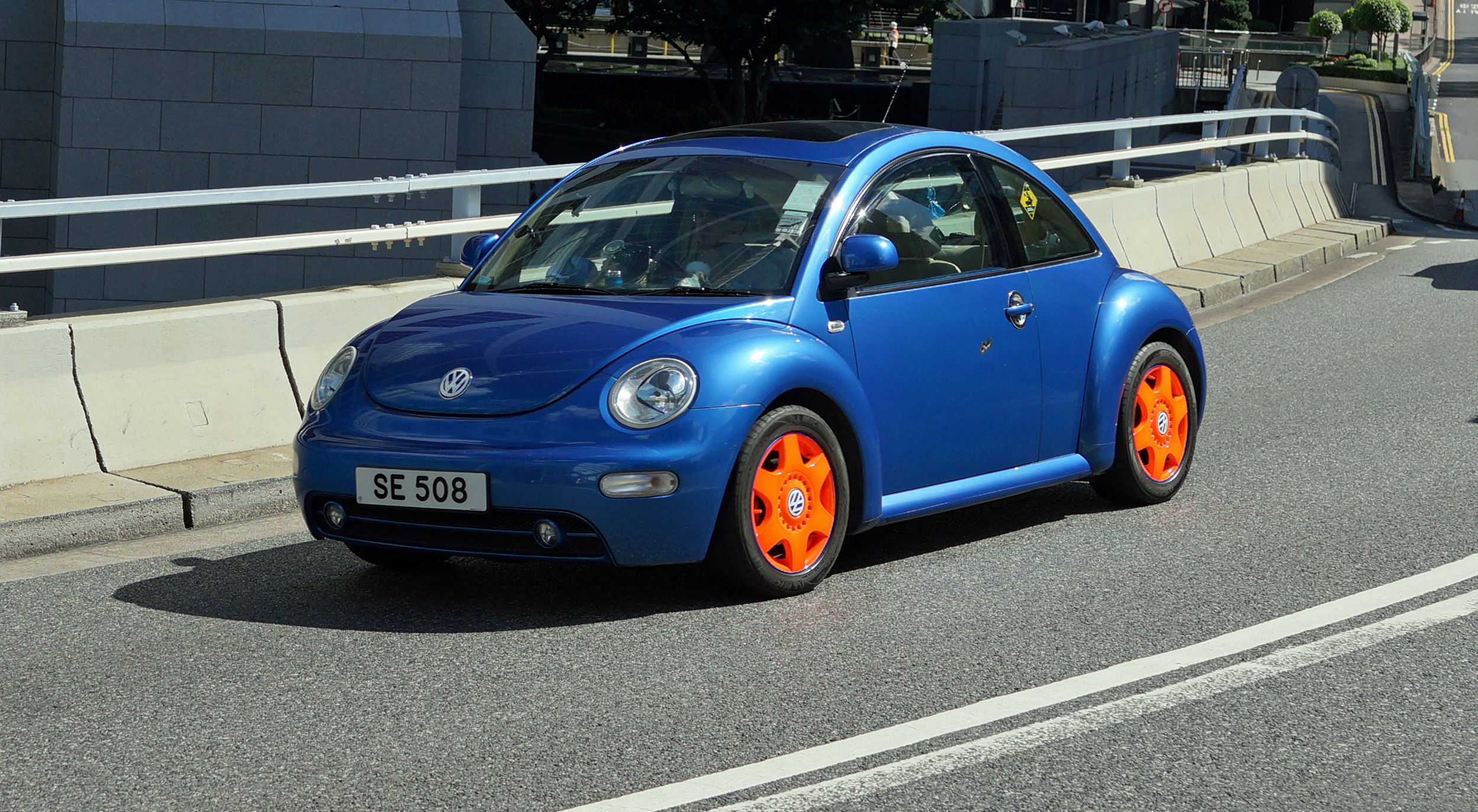 Volkswagen Beetle, same colour as the bug!