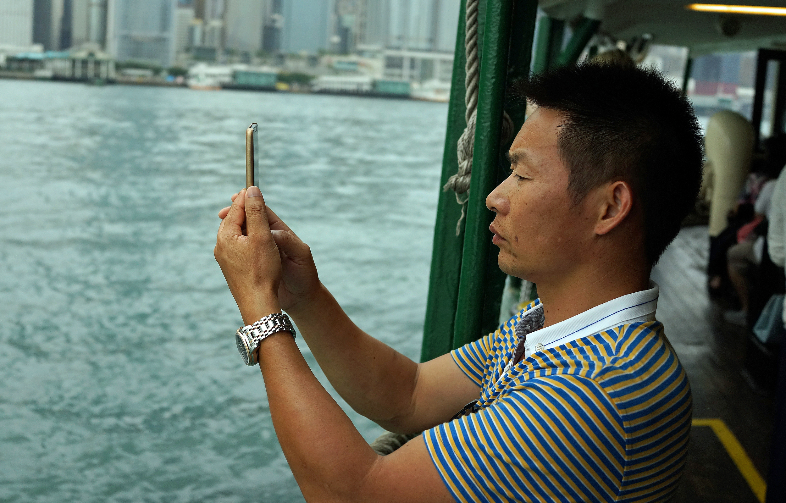 The selfie craze in Hong Kong - that's all I am saying.