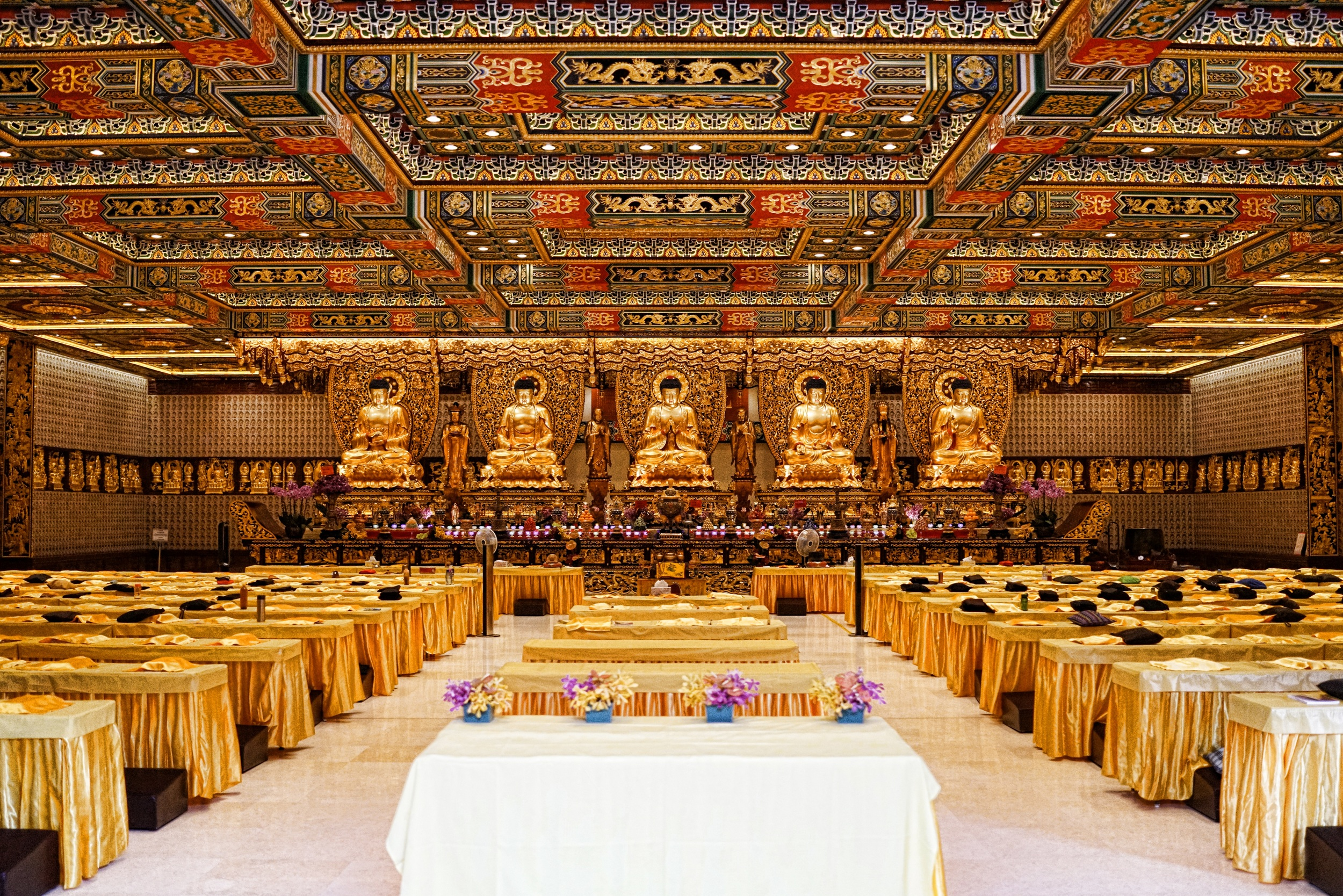 It does not matter how many times I visit the Po Lin Monastery on Lantau Island I am always gobsmacked by the interior, simply amazing..