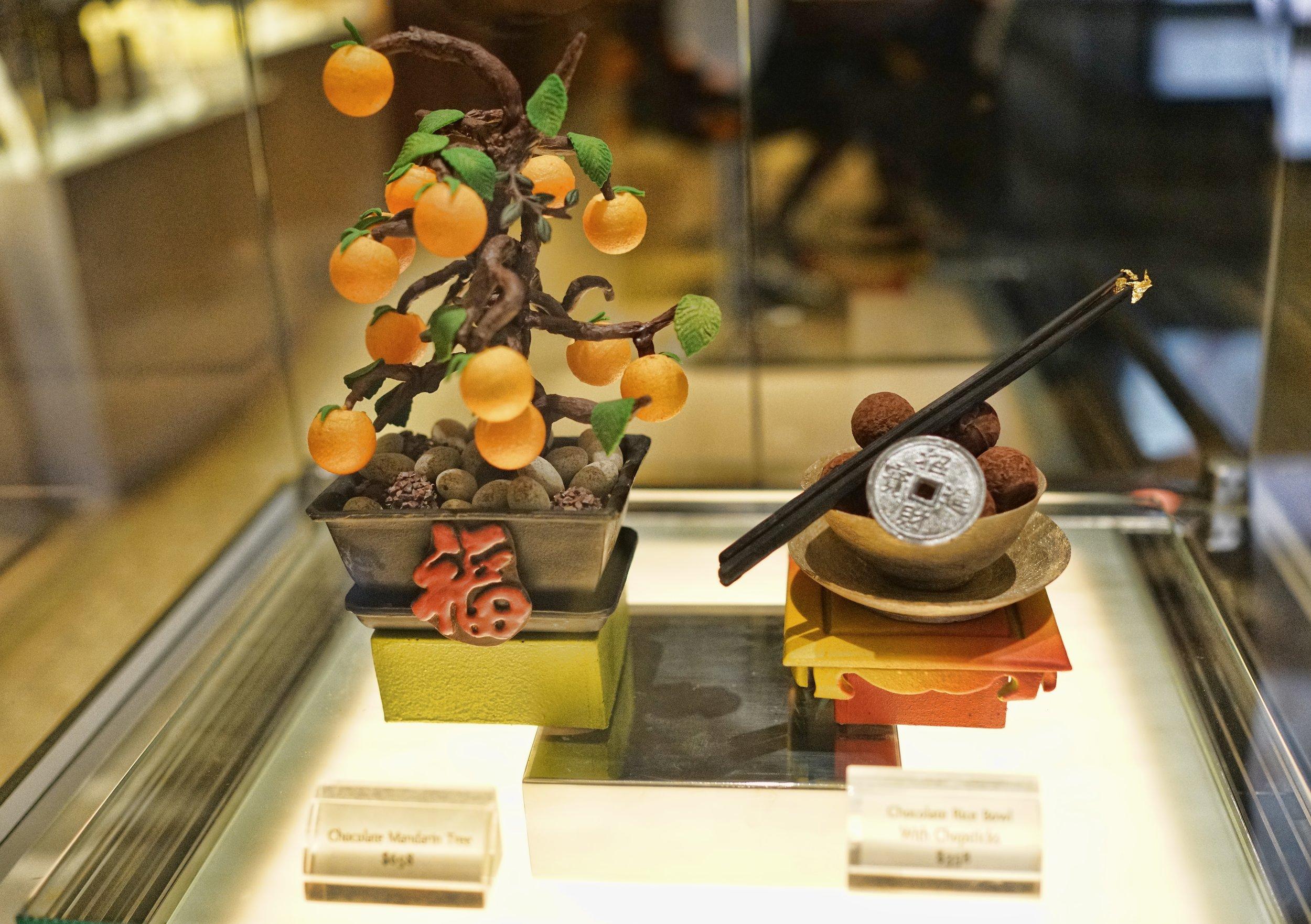 Chocolate creation, Mandarin Oriental Hotel