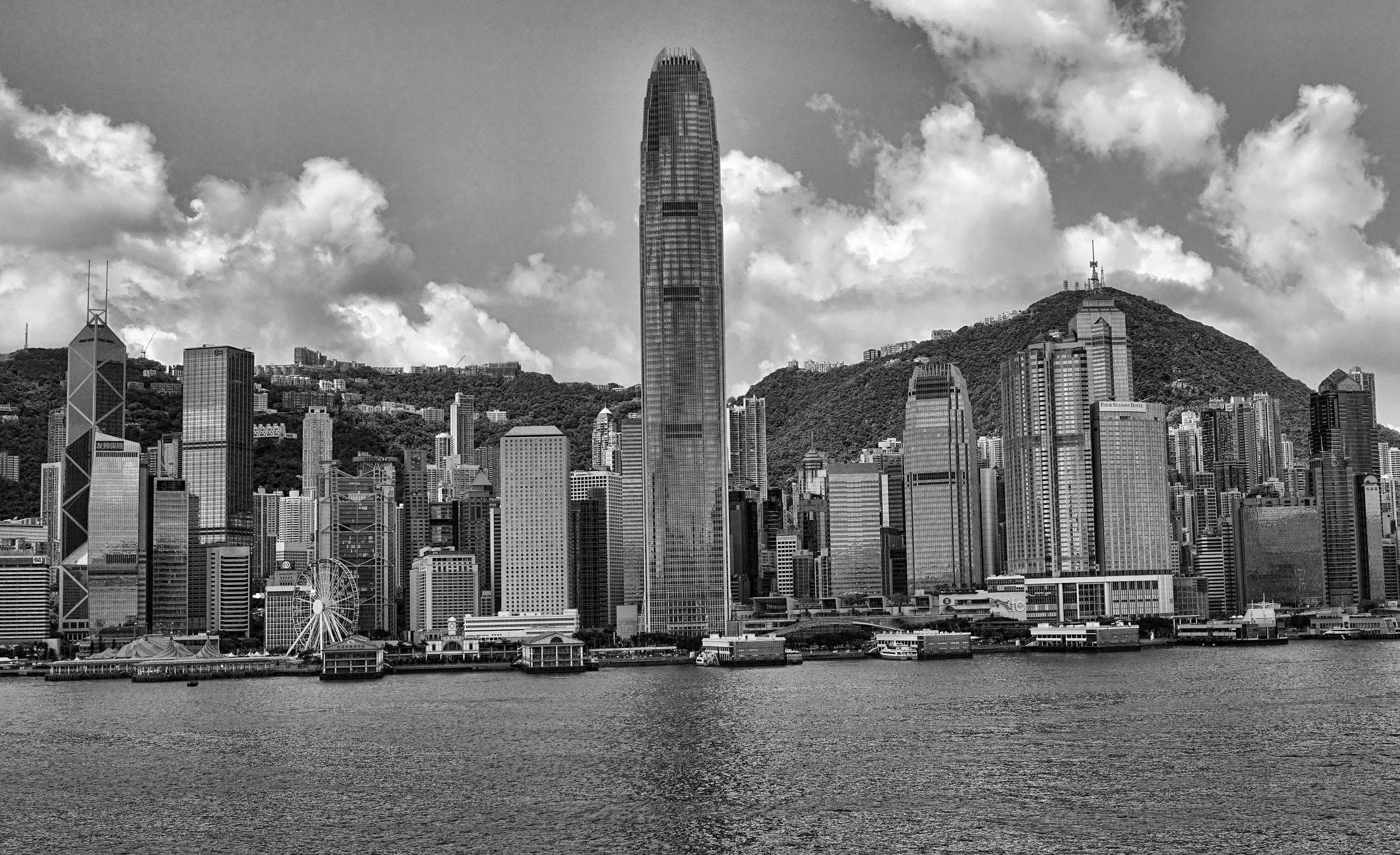 Hong Kong Island as seen from the Ocean Terminal Deck in Kowloon, Hong Kong.jpg