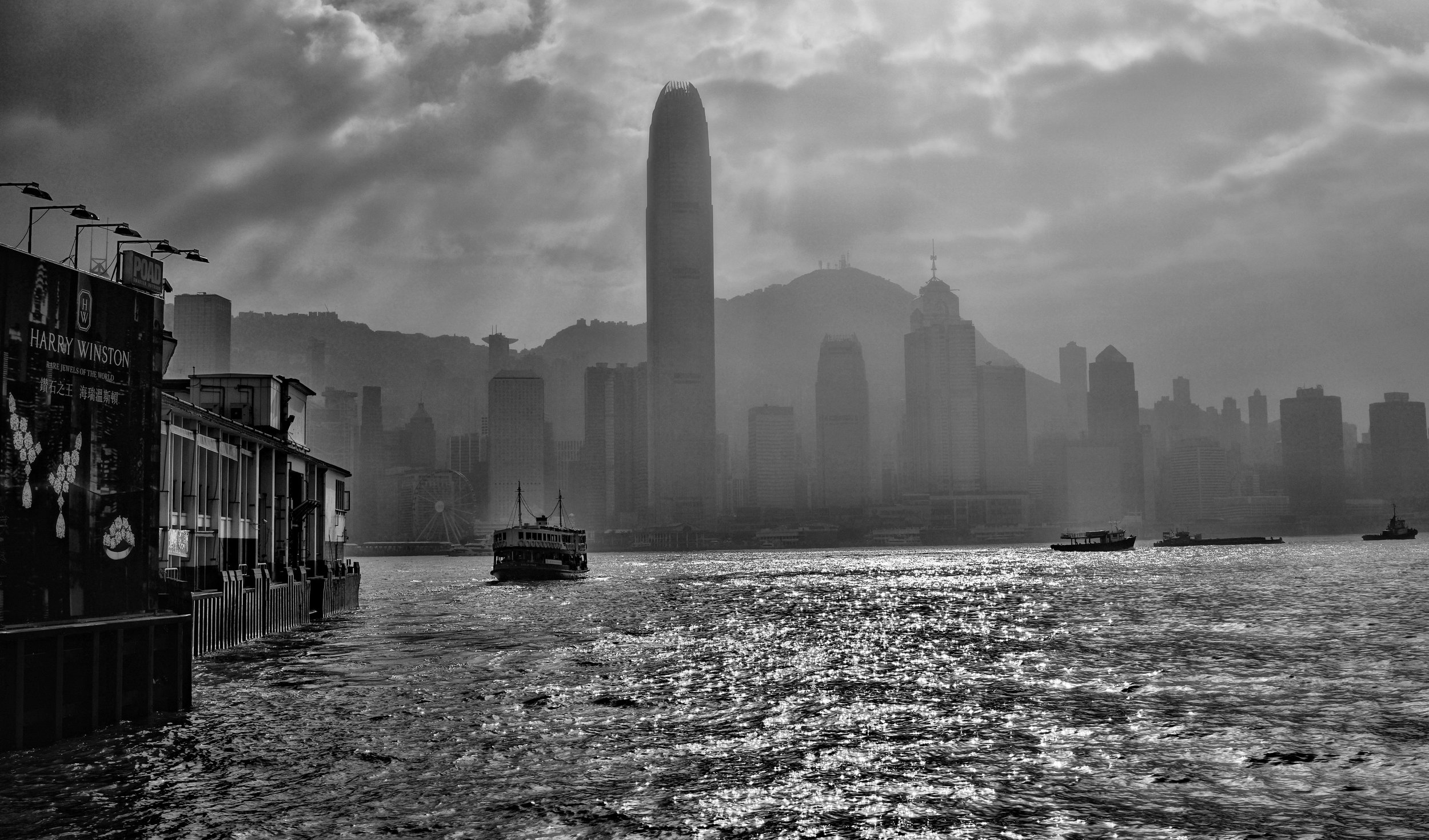 The iconic Star Ferry on a hazy winter day, Hong Kong.jpg