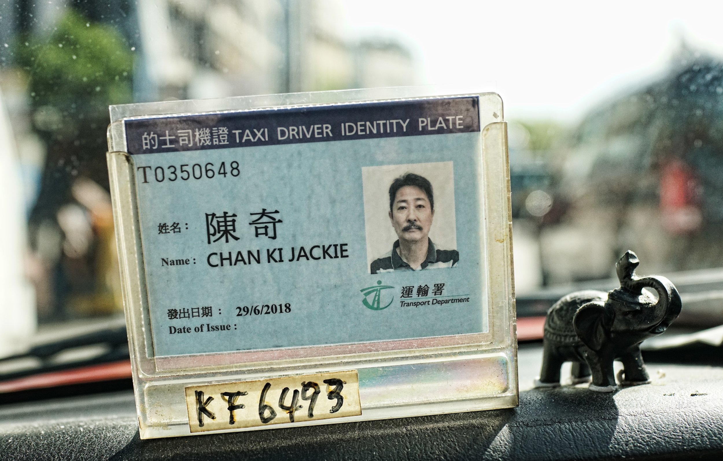 Being Jackie Chan, Taxi Driver, Hong Kong.JPG