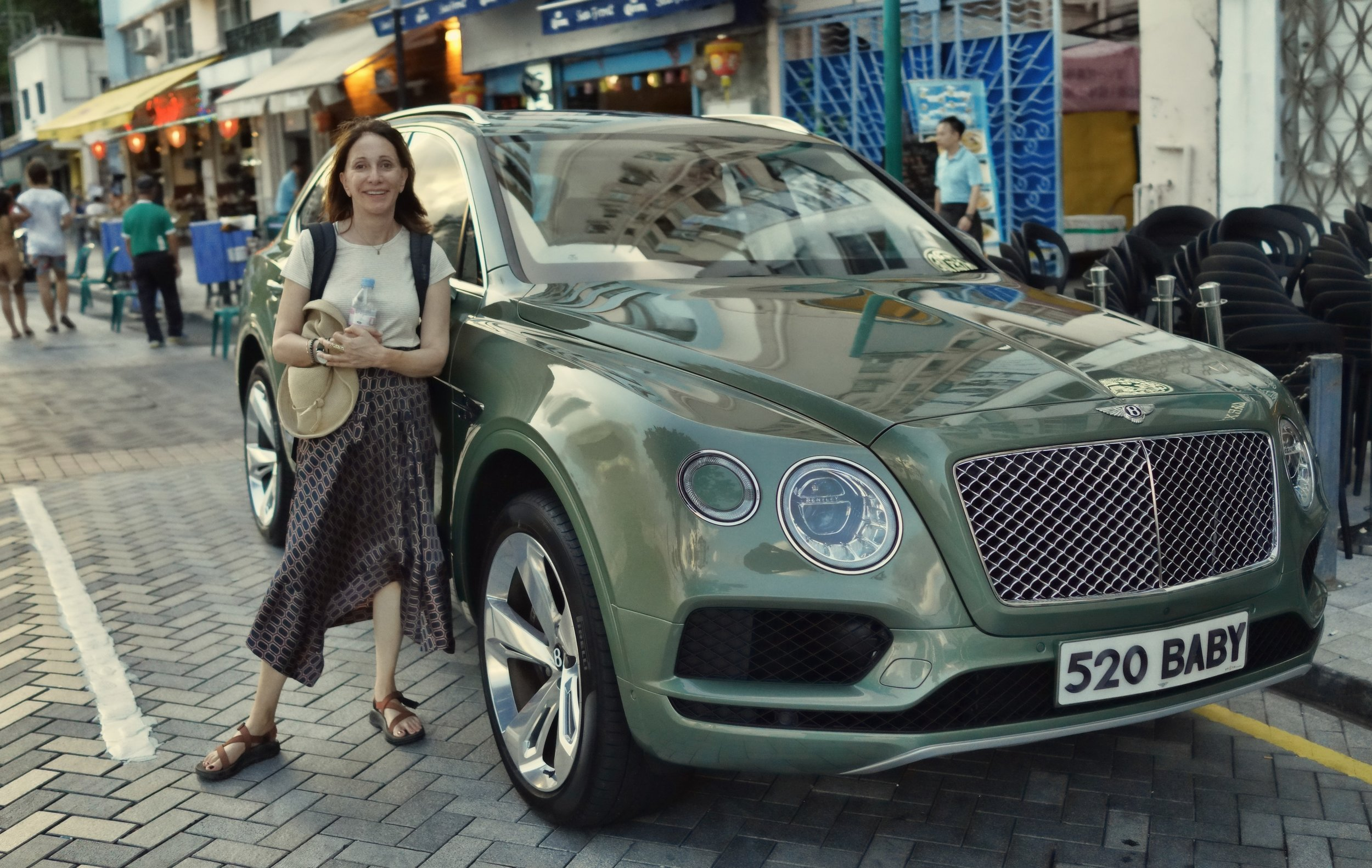 ... and no, I do not do car tours in this gorgeous Bentley SUV! -