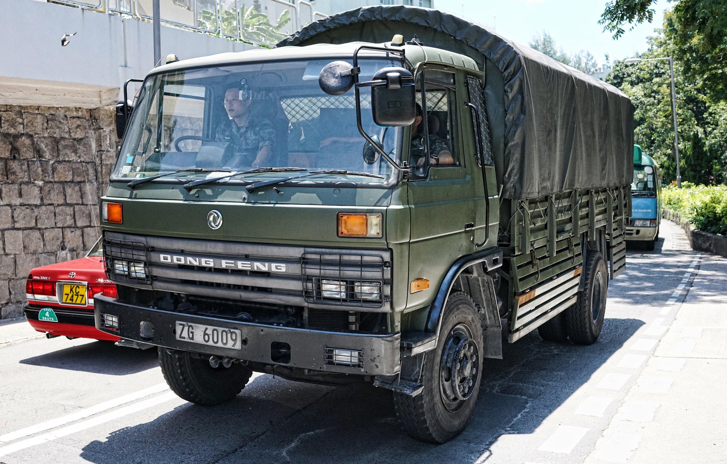 Mainland Chinese Army Truck, The Hong Kong Country Club, Hong Kong.JPG