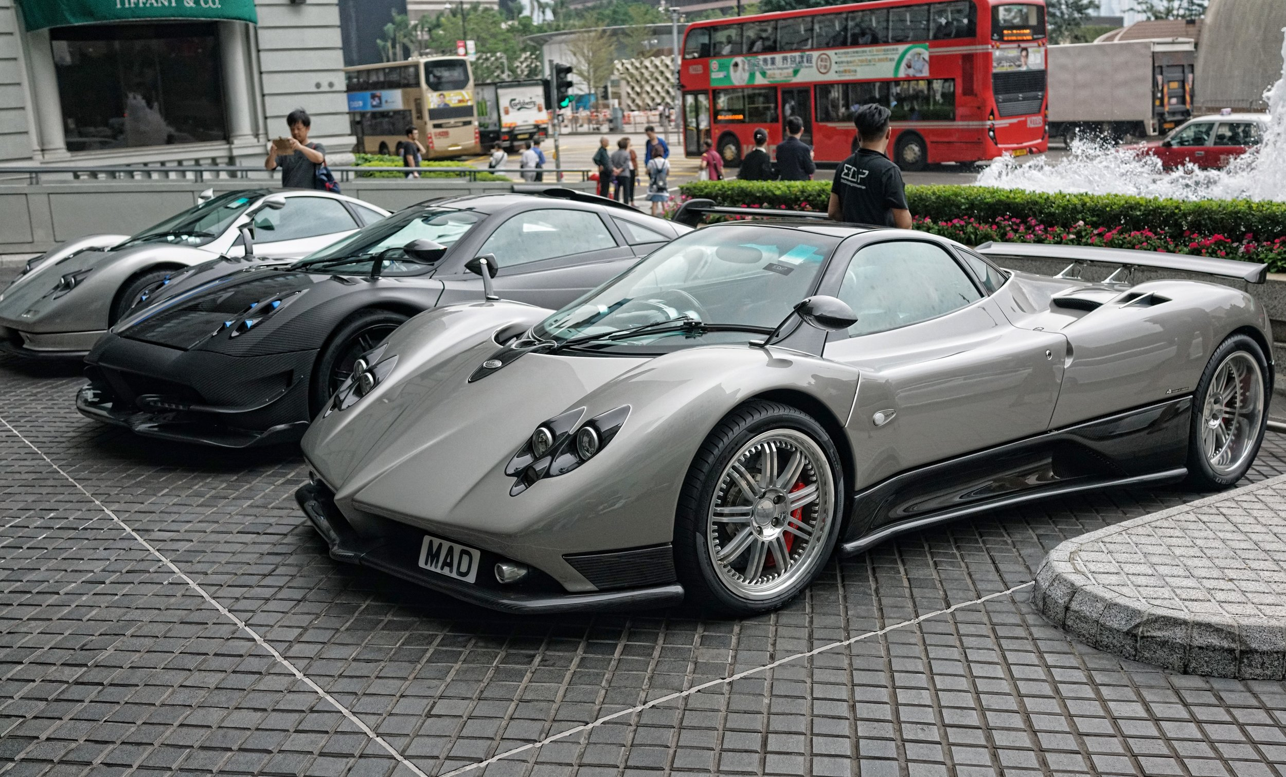 Pagani - Zonda x 2 and one Huayra.JPG