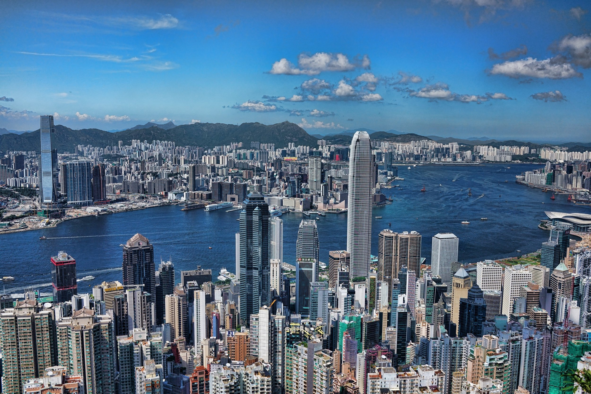 The greatest city view in the World, the view from Victoria Peak in Hong Kong, simply amazing