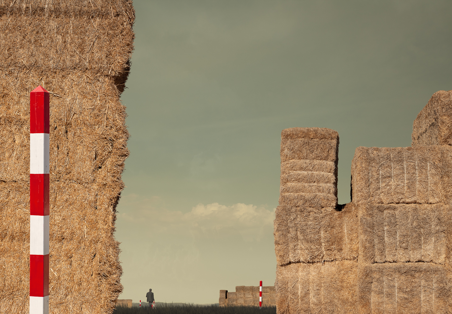 Hay Field, 2013   Pigment print on archival rag   100 x 143cm  /Edition of 5 +2AP   Represented by  Otomys Arthouse