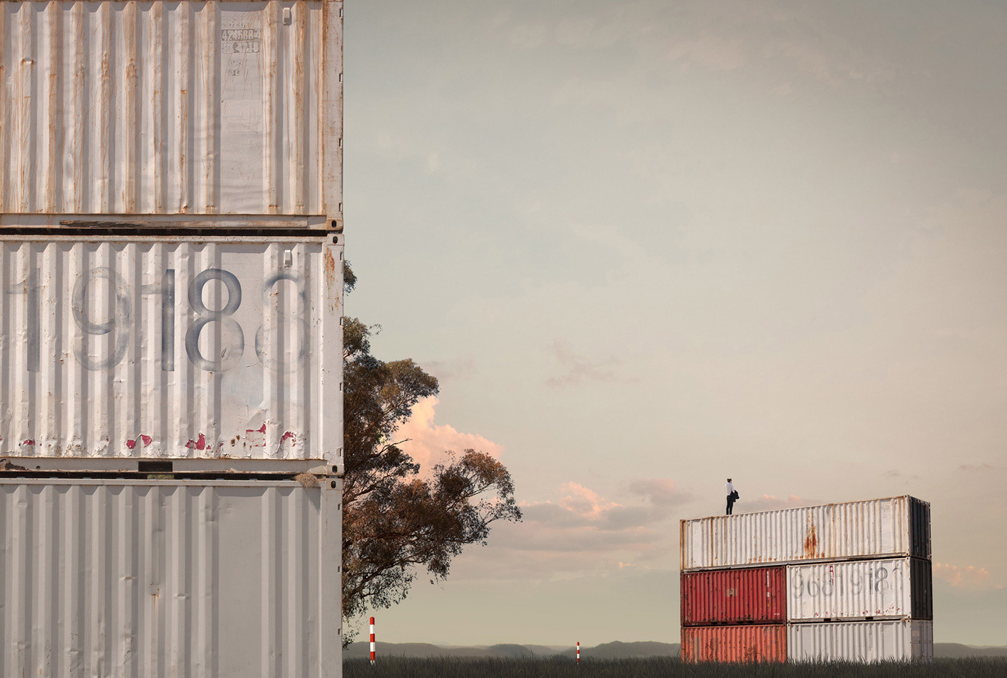 Container Field, 2013  Pigment print on archival rag   159.5 x 115cm /  Edition of 5 +2AP (Sold Out)   Represented by   Otomys Arthouse