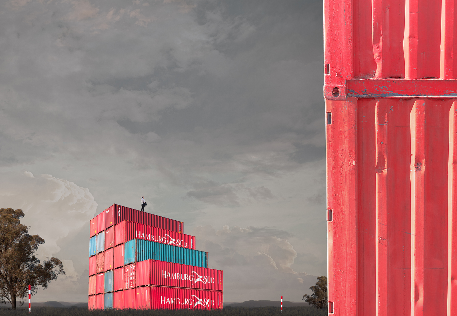 Red Stack   Pigment print on archival rag  110cm x 155cm  1 / 7 + 2AP  140cm x 195cm  1 / 3 + 1AP   Represented by Otomys Arthouse