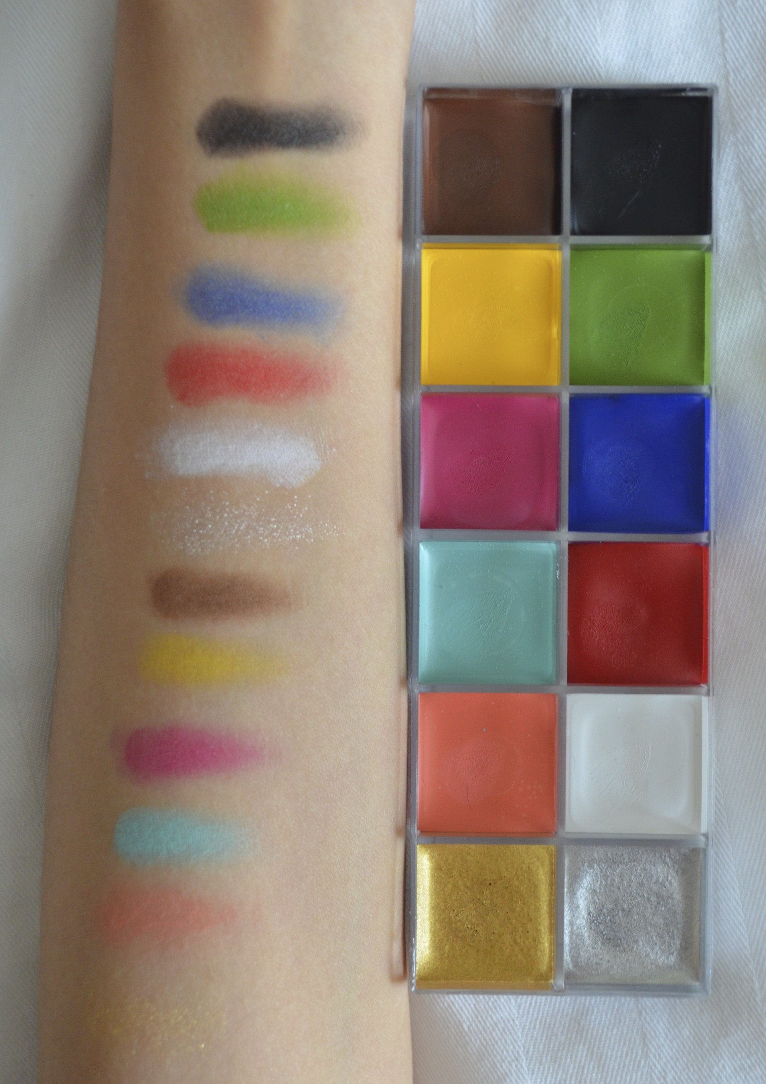 mufe flash color swatches