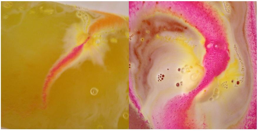 lush enchanter bath bomb colors