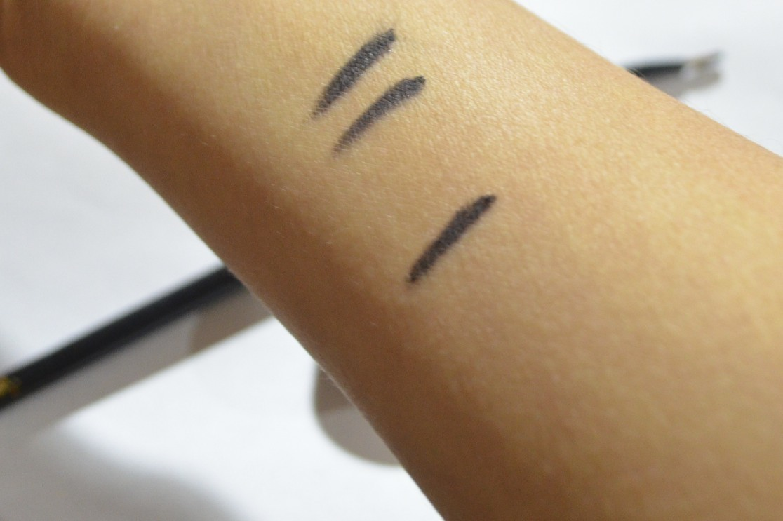 bobbi brown black ink swatches, bobbi brown long wear gel liner swatches