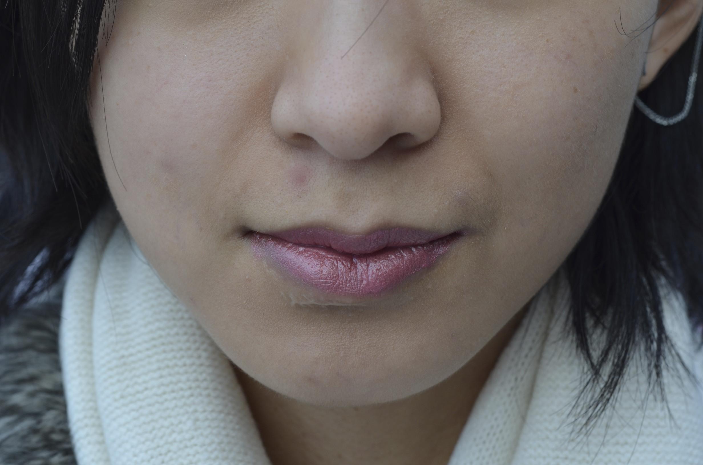 lush emotional brilliance lipstick perspective swatch