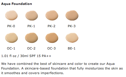 kgd aqua foundation shade range