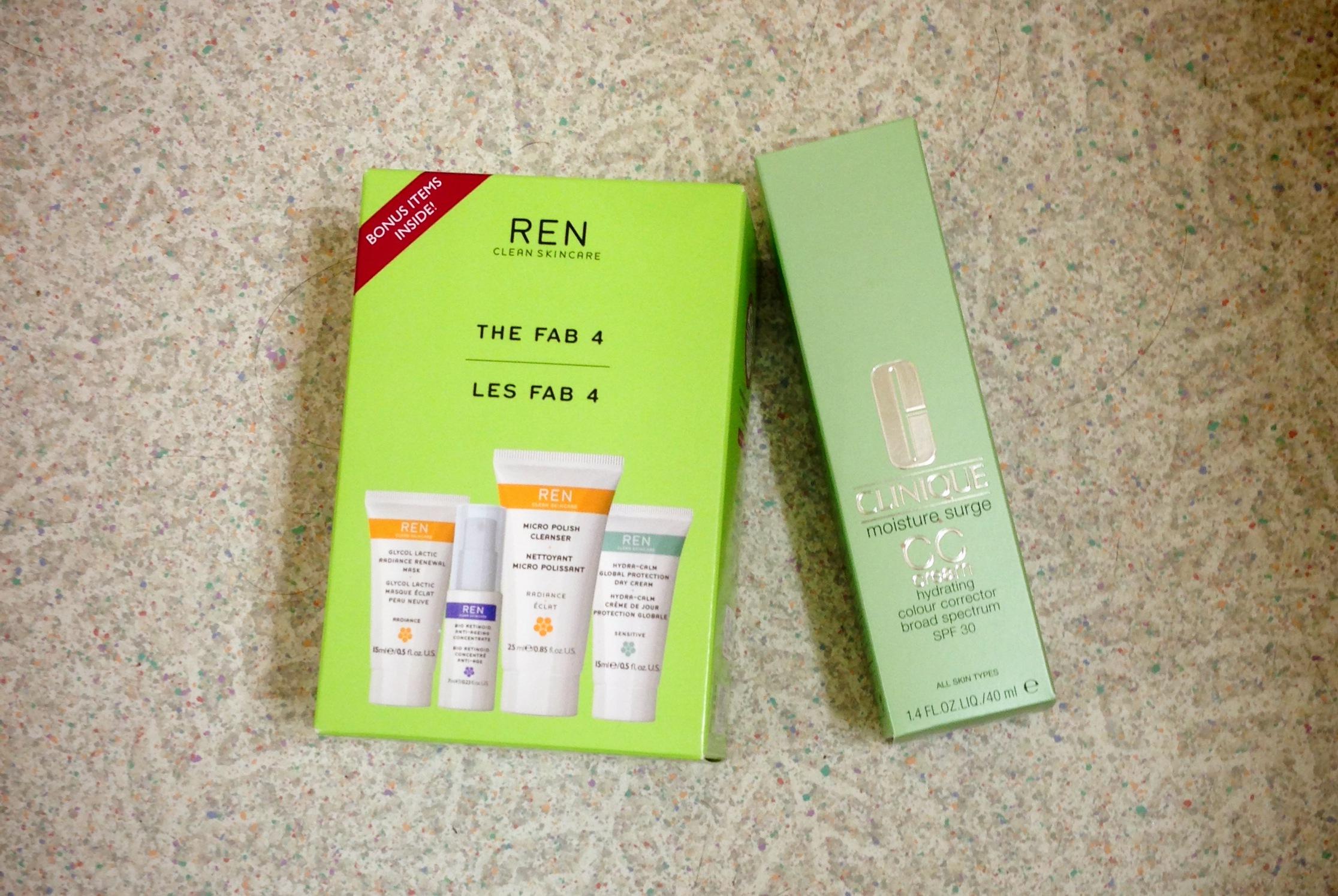 Clinique CC cream review, ren fab 4 kit review, ren glycolactic radiance peel review, ren skincare review