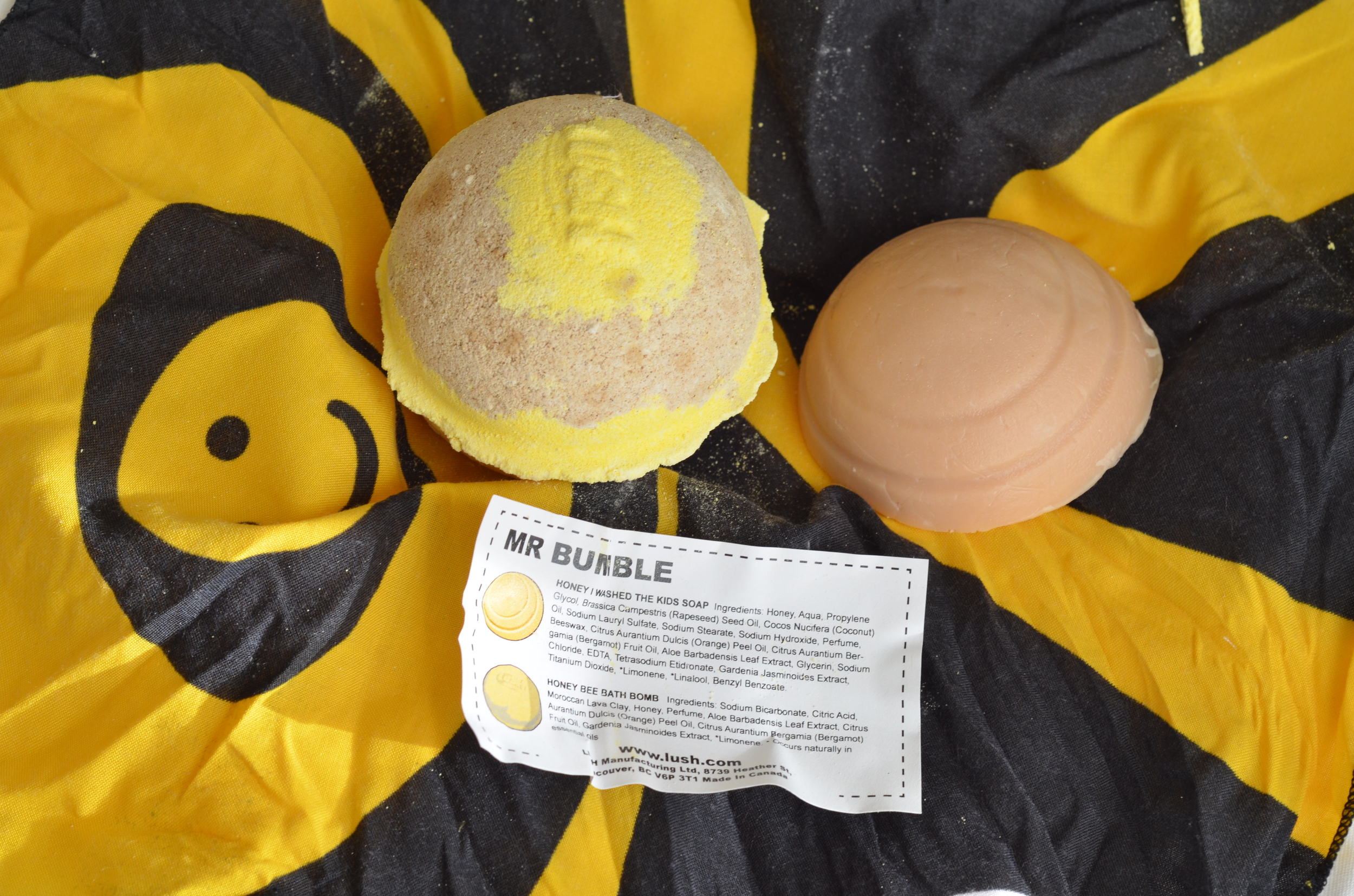 lush honey bee bath bomb review, lush honey i washed the kids soap review