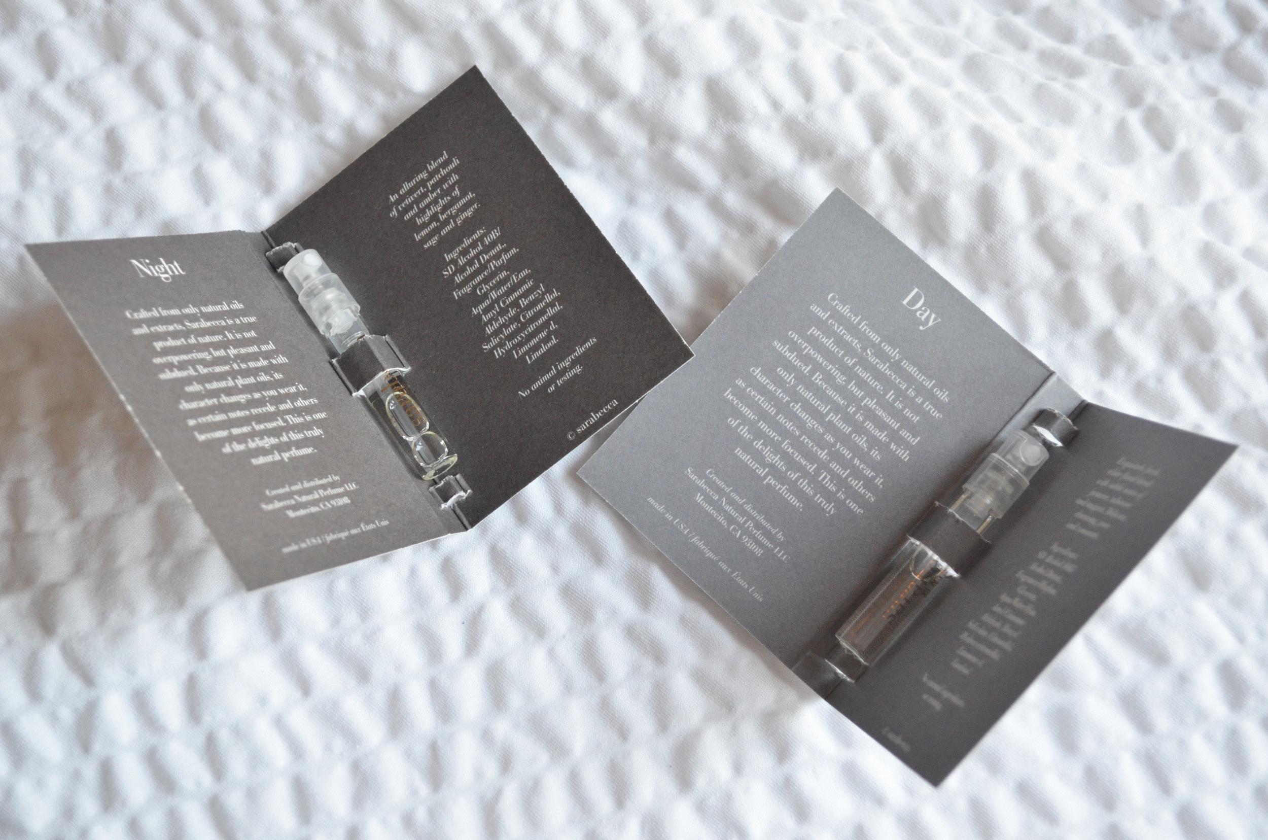 sarabecca review, sarabecca day perfume review, sarabecca night perfume review